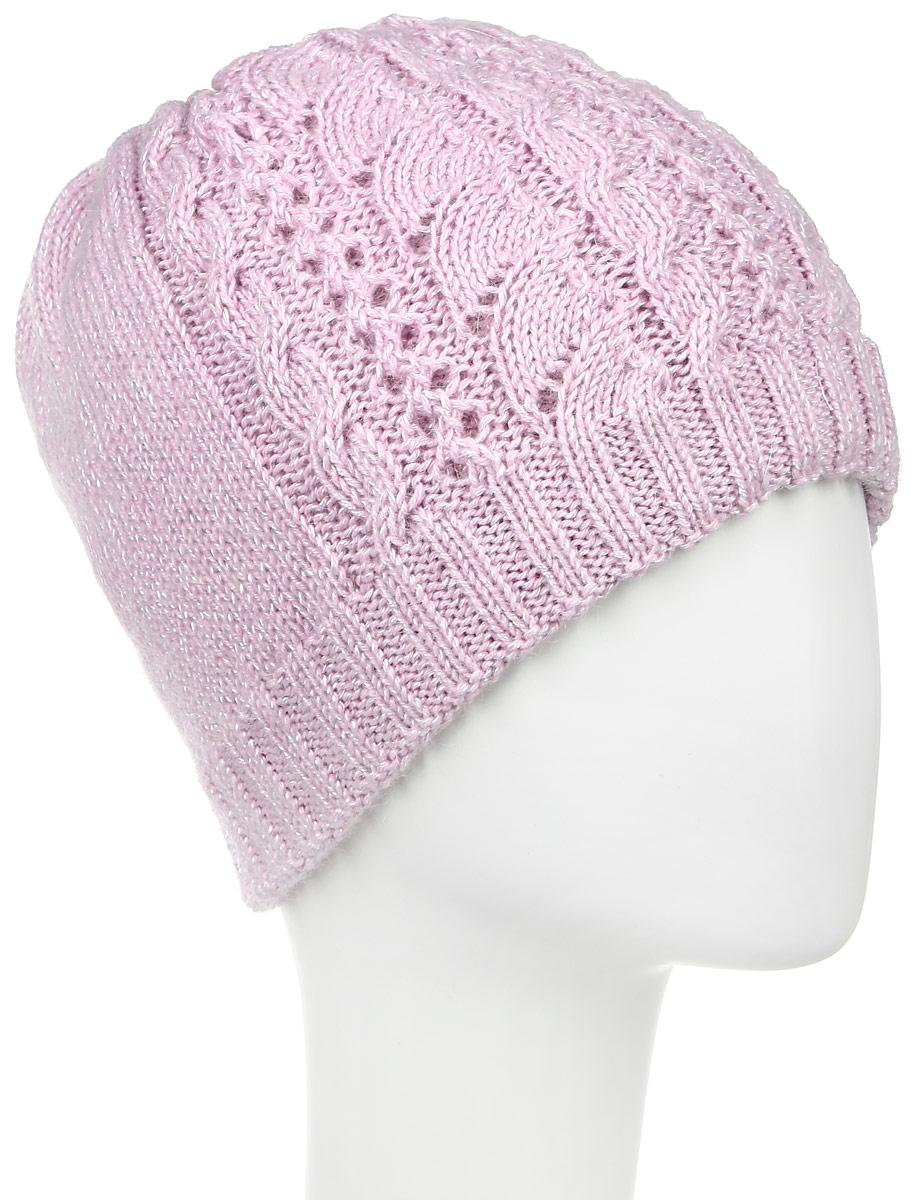ШапкаSWH5628/3Женская шапка Snezhna выполнена из шерсти, мохера и полиамида. Уважаемые клиенты! Размер, доступный для заказа, является обхватом головы.