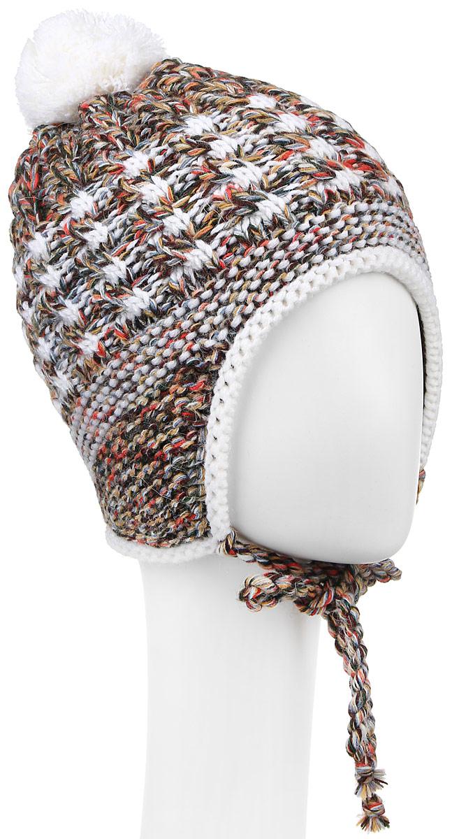 ШапкаMGU7176/2Теплая шапка для девочки Marhatter выполнена из сочетания высококачественных материалов. Подкладка выполнена из мягкого флиса. Шапка оформлена вязкой с узорами и на макушке дополнена пушистым помпоном. По бокам модель дополнена удлиненными ушками, которые можно завязать на тоненькие вязаные канатики. Уважаемые клиенты! Размер, доступный для заказа, является обхватом головы.