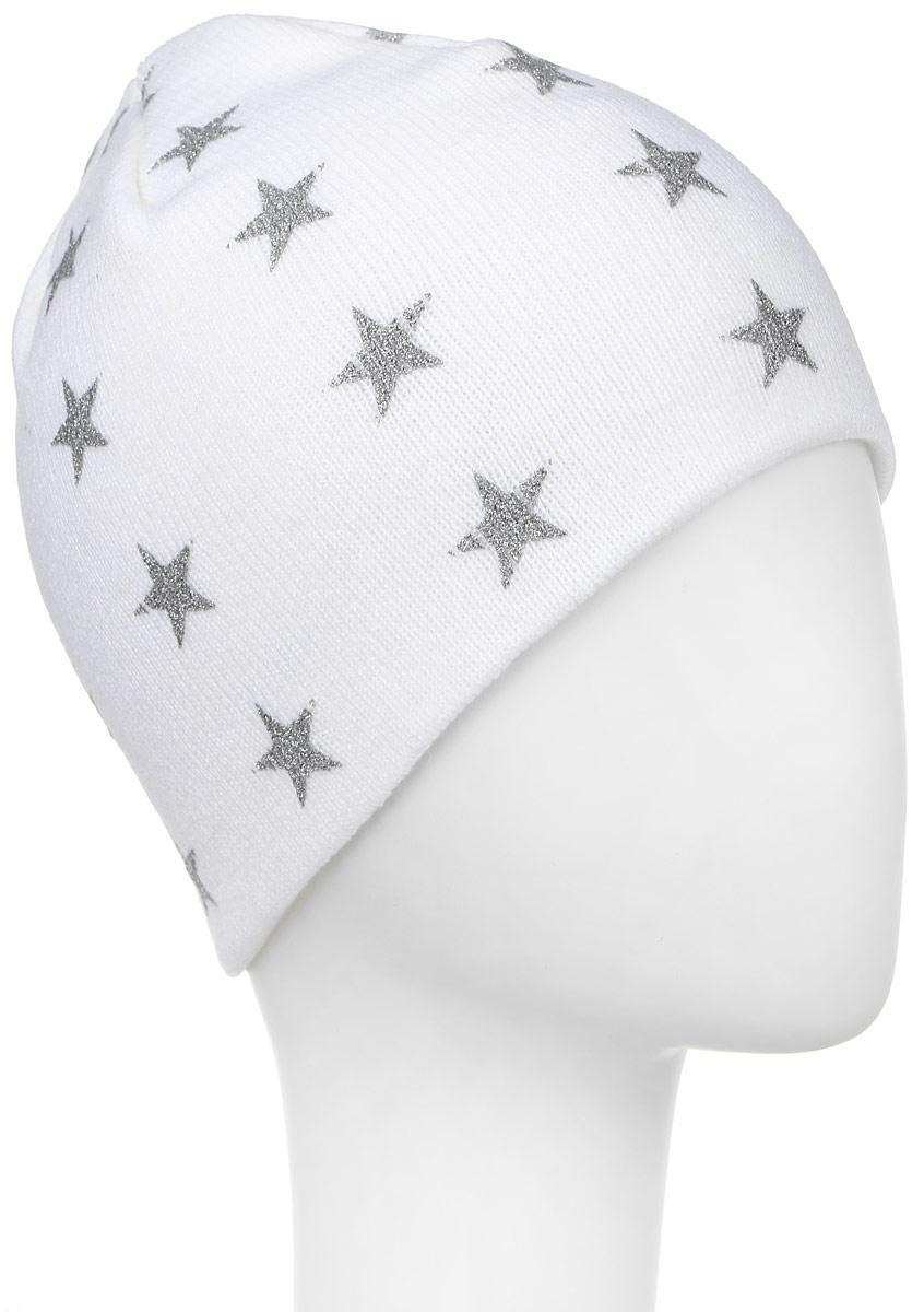 Шапка303294Теплая шапка Ignite выполнена из высококачественного акрила. Двойная модель оформлена стильным принтом с изображением блестящих звезд. Уважаемые клиенты! Размер, доступный для заказа, является обхватом головы.