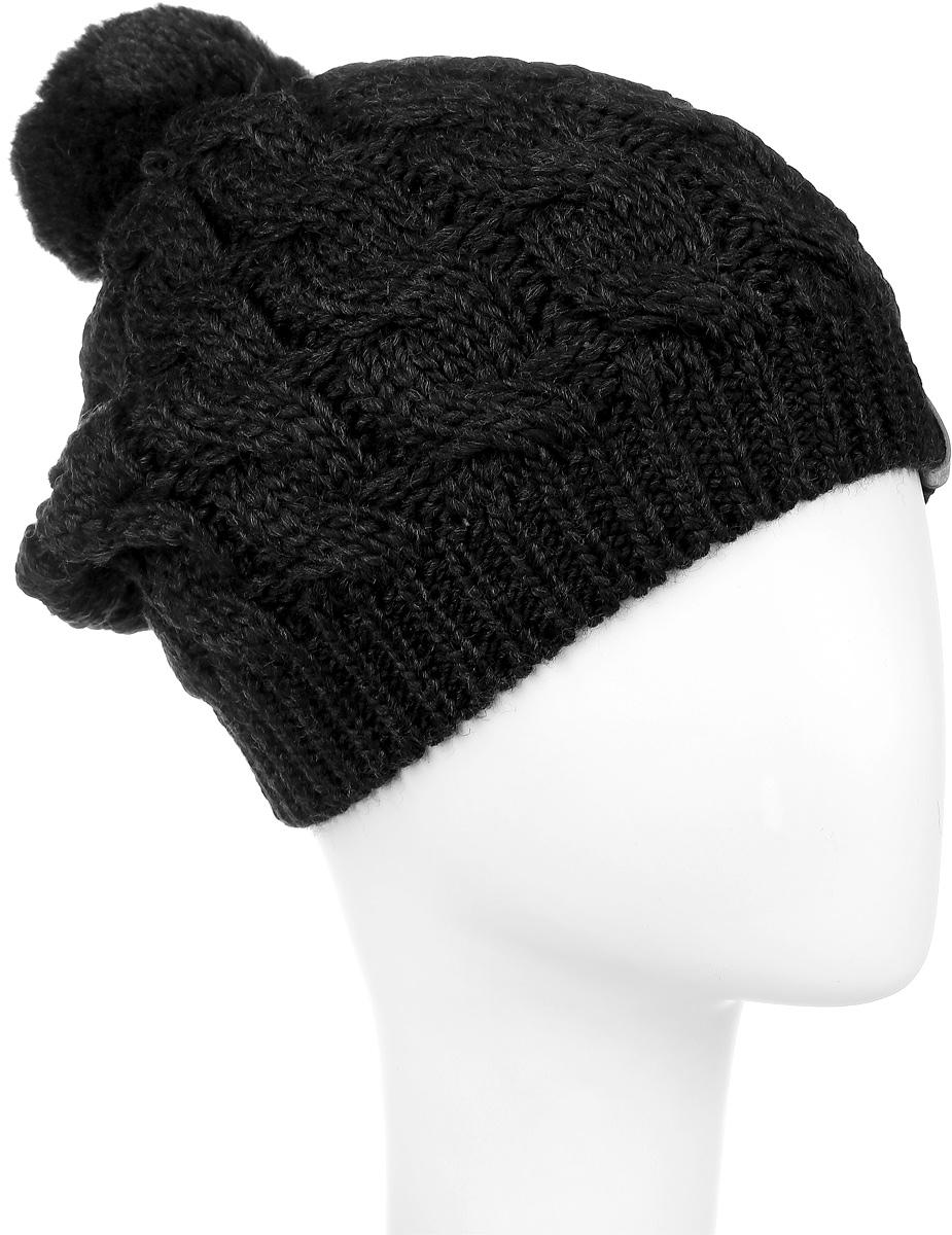 Шапка3623Вязаная женская шапка Snezhna идеально подойдет для вас в холодное время года. Изготовленная из шерсти и акрила, она мягкая и приятная на ощупь, обладает хорошими дышащими свойствами и максимально удерживает тепло. Шапка плотно облегает голову, благодаря чему надежно защищает от ветра и мороза. Шапка оформлена крупным вязаным узором, а также на макушке дополнена небольшим помпоном. Такой стильный и теплый аксессуар дополнит ваш образ и подчеркнет индивидуальность! Уважаемые клиенты! Размер, доступный для заказа, является обхватом головы.