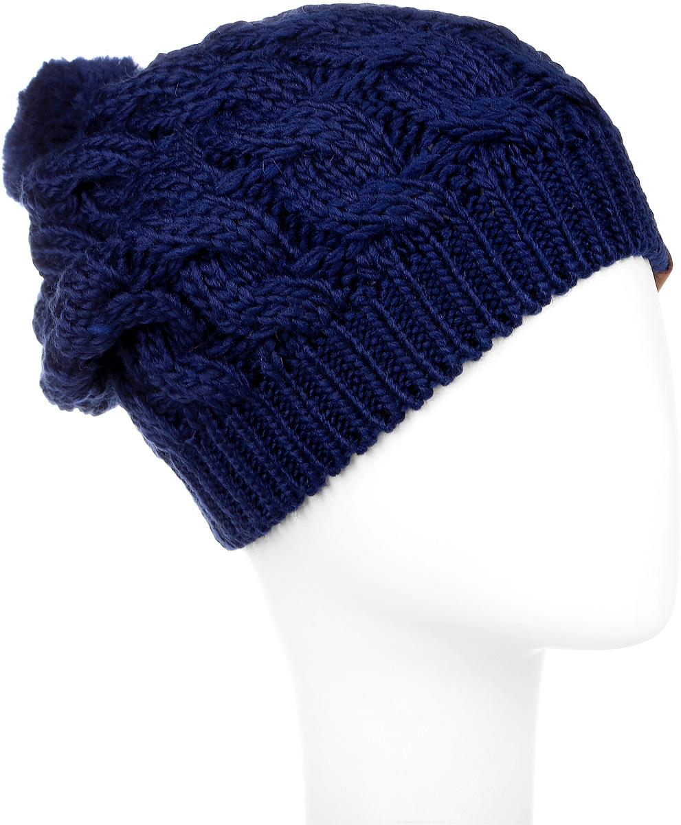3623Вязаная женская шапка Snezhna идеально подойдет для вас в холодное время года. Изготовленная из шерсти и акрила, она мягкая и приятная на ощупь, обладает хорошими дышащими свойствами и максимально удерживает тепло. Шапка плотно облегает голову, благодаря чему надежно защищает от ветра и мороза. Шапка оформлена крупным вязаным узором, а также на макушке дополнена небольшим помпоном. Такой стильный и теплый аксессуар дополнит ваш образ и подчеркнет индивидуальность! Уважаемые клиенты! Размер, доступный для заказа, является обхватом головы.