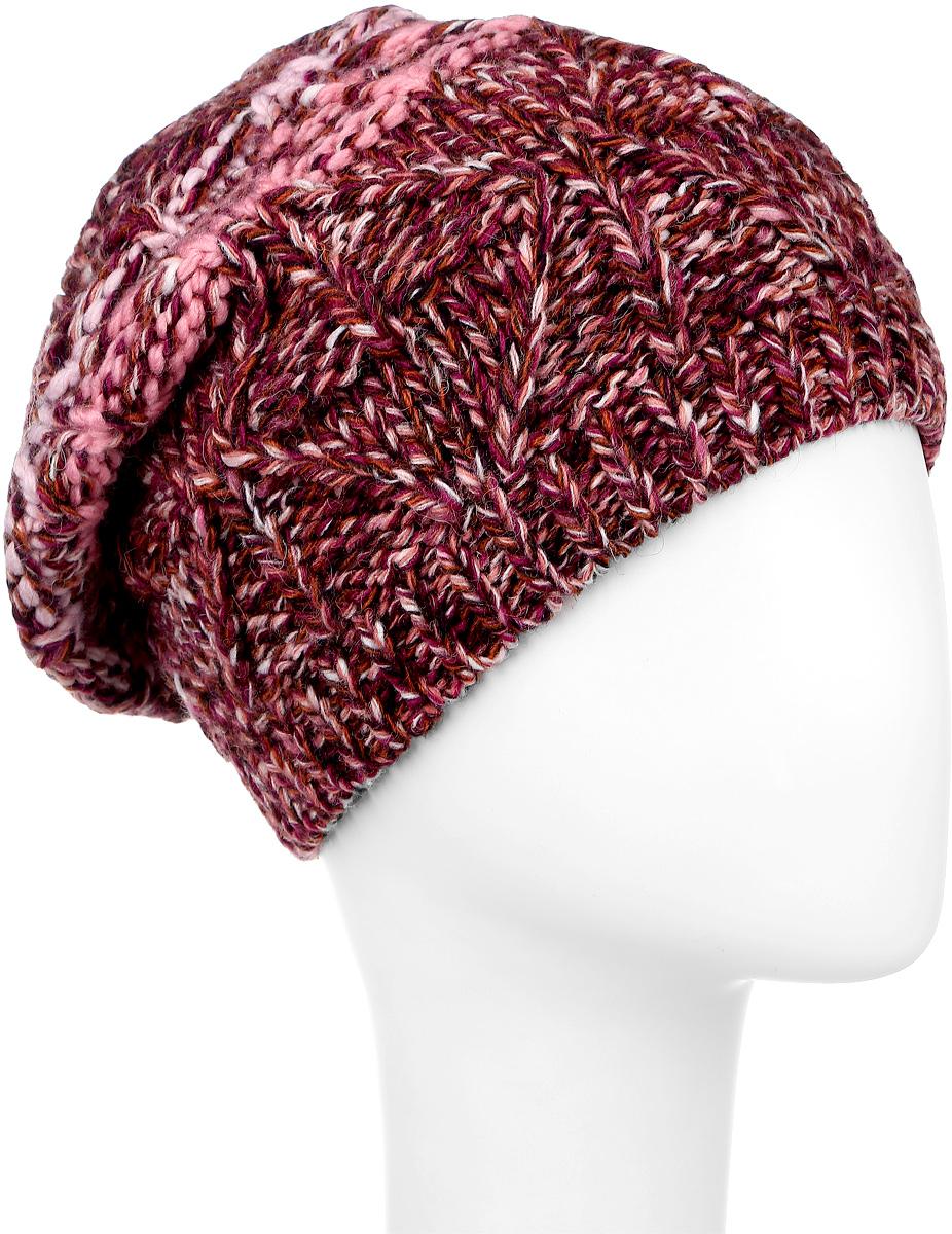 ШапкаMLH6834/2Вязаная женская шапка Marhatter отлично подойдет для модниц в холодную погоду. Шапка изготовлена из акрила с добавлением альпки и шерсти. Она мягкая и приятная на ощупь, обладает хорошими дышащими свойствами и максимально удерживает тепло. Край шапки связан резинкой. Изделие оформлено вязаным узором. Уважаемые клиенты! Размер, доступный для заказа, является обхватом головы.
