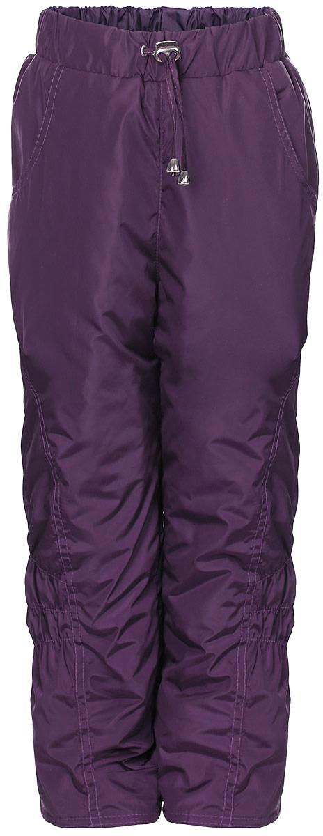 Брюки утепленныеБР0145П-12Утепленные брюки для девочки M&D не дадут замерзнуть в холодную погоду. Модель выполнена из водоотталкивающего материала с синтепоновым утеплителем. Спереди брюки дополнены двумя врезными карманами. На талии модель имеет эластичную резинку и шнурок.