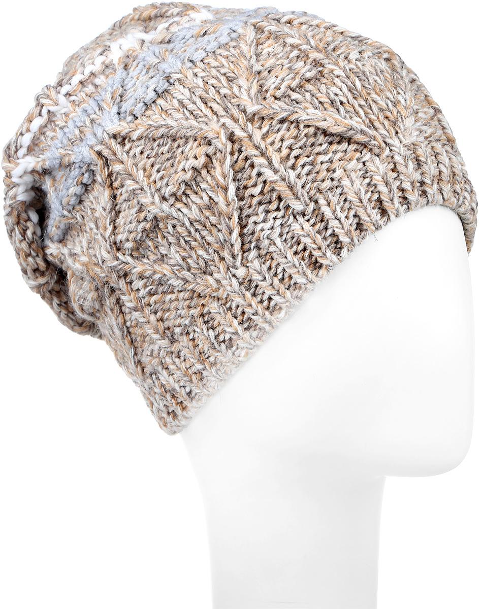 MLH6834/2Вязаная женская шапка Marhatter отлично подойдет для модниц в холодную погоду. Шапка изготовлена из акрила с добавлением альпки и шерсти. Она мягкая и приятная на ощупь, обладает хорошими дышащими свойствами и максимально удерживает тепло. Край шапки связан резинкой. Изделие оформлено вязаным узором. Уважаемые клиенты! Размер, доступный для заказа, является обхватом головы.