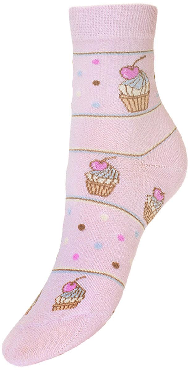 YCL45Детские носки из высококачественного хлопка для повседневной носки. - текстурный рисунок по всему носку пирожное с вишней; - бесшовная технология зашивки мыска (кеттельный шов); - хорошо держат форму и обладают повышенной воздухопроницаемостью; - безупречный внешний вид; - после стирки не меняют цвет; - усилены пятка и мысок - за счёт добавленной лайкры в пряжу, повышена эластичность и срок службы изделия. Носки долгое время сохраняют форму и цвет, а так же обладают антибактериальными и терморегулирующими свойствами.