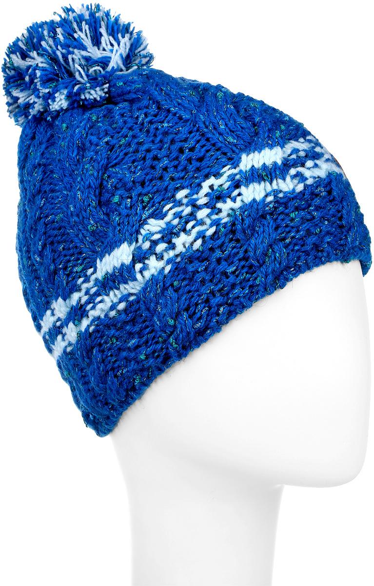 ШапкаMFH5797/2Теплая шапка для девочки Marhatter выполнена из сочетания высококачественных материалов. Шапка выполнена крупной вязкой с дополнение блестящего люрекса и на макушке оформлена пушистым помпоном. Сбоку модель дополнена нашивкой с логотипом бренда. Уважаемые клиенты! Размер, доступный для заказа, является обхватом головы.