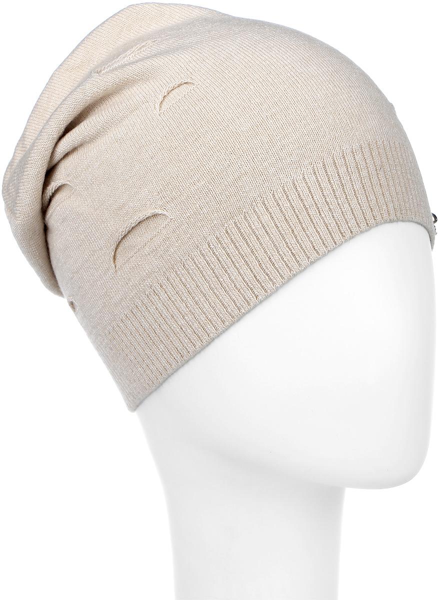 ШапкаMWH3_003Стильная женская шапка Marhatter отлично дополнит ваш образ в холодную погоду. Выполненная из шерсти и акрила с подкладкой из полиэстера, шапка максимально сохраняет тепло и обеспечивает удобную посадку, невероятную легкость и мягкость. Шапка дополнена небольшими декоративными надрезами и металлическим элементом в виде зайки. Модная шапка Marhatter подчеркнет ваш неповторимый стиль и индивидуальность. Уважаемые клиенты! Размер, доступный для заказа, является обхватом головы.