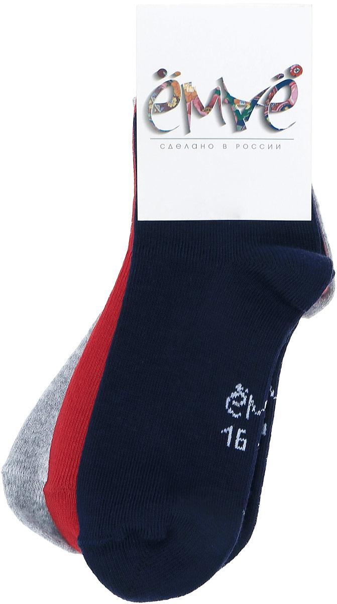 37-123Стильные детские носки Ёмаё, изготовленные из высококачественного эластичного хлопка с добавлением полиамида, идеально подойдут вашему ребенку. Эластичная резинка плотно облегает ножку малыша, не сдавливая ее. Носки оформлены контрастным логотипом бренда. В комплекте 3 пары разных цветов.