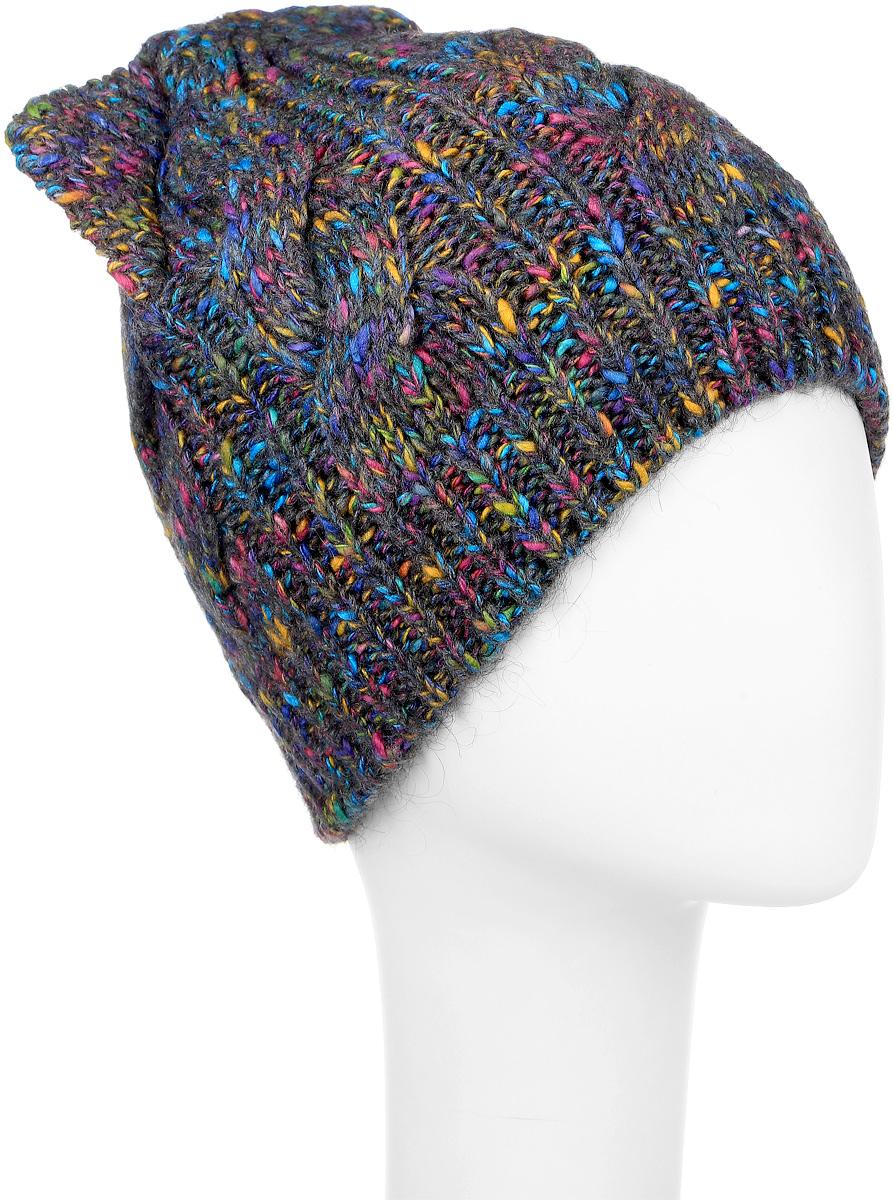 ШапкаMWH7128/2Теплая женская шапка Marhatter выполнена из сочетания высококачественных материалов. Шапка выполнена крупной вязкой с узором и на макушке оформлена оригинальными ушками. Сбоку модель дополнена нашивкой с изображением снежинки. Уважаемые клиенты! Размер, доступный для заказа, является обхватом головы.