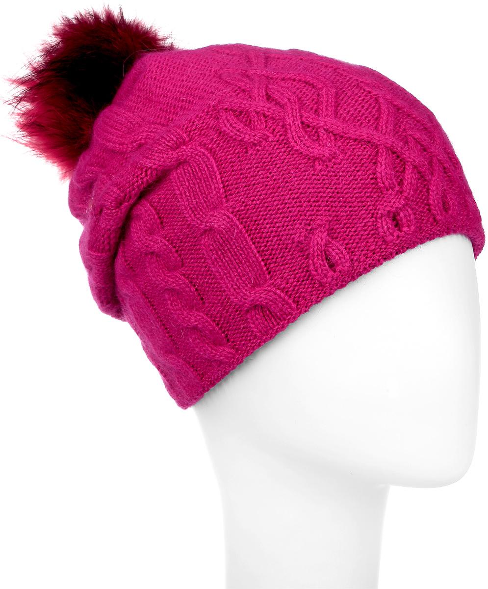 ШапкаMWH5602/3-001Теплая женская шапка Marhatter отлично дополнит ваш образ в холодную погоду. Сочетание шерсти и акрила максимально сохраняет тепло и обеспечивает удобную посадку, невероятную легкость и мягкость. Подкладка выполнена из мягкого флиса. Удлиненная шапка выполнена вязкой с узорами. Макушка шапки дополнена пушистым помпоном из натурального меха песца. Модель составит идеальный комплект с модной верхней одеждой, в ней вам будет уютно и тепло. Уважаемые клиенты! Размер, доступный для заказа, является обхватом головы.