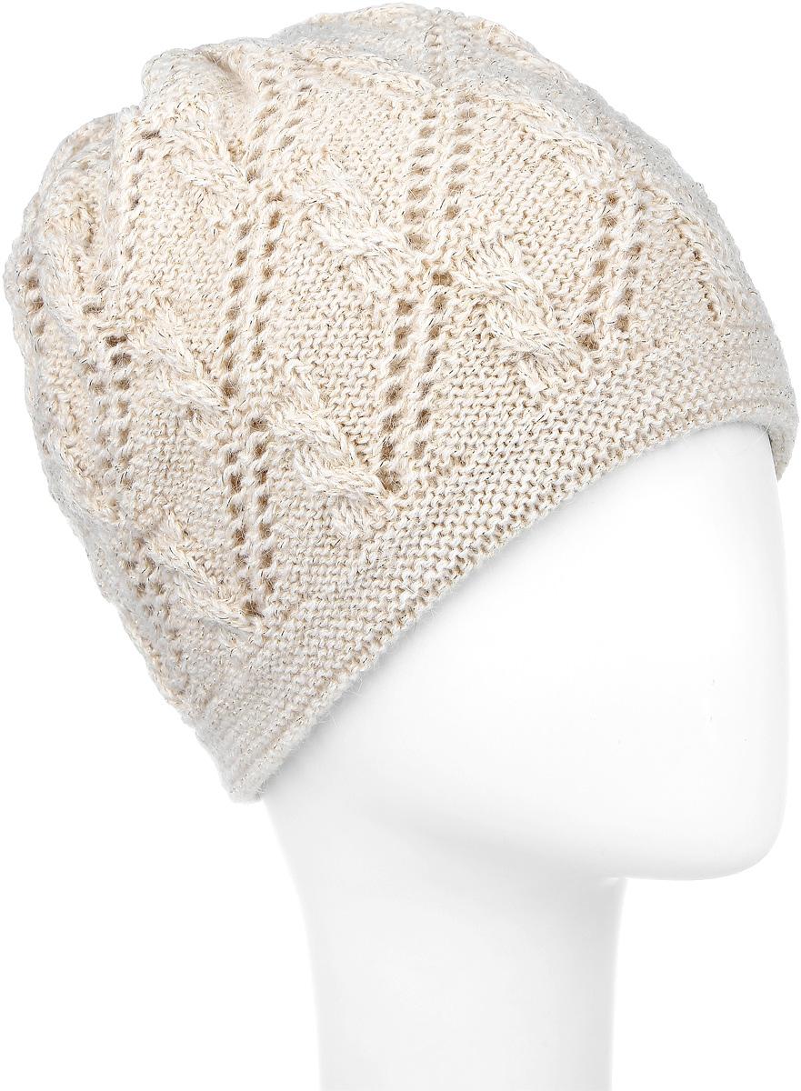 SWH5944/3Женская шапка Snezhna выполнена из мохера и акрила. Модель оформлена ажурной вязкой с люрексом. По низу изделие дополнено вязаной резинкой. Уважаемые клиенты! Размер, доступный для заказа, является обхватом головы.