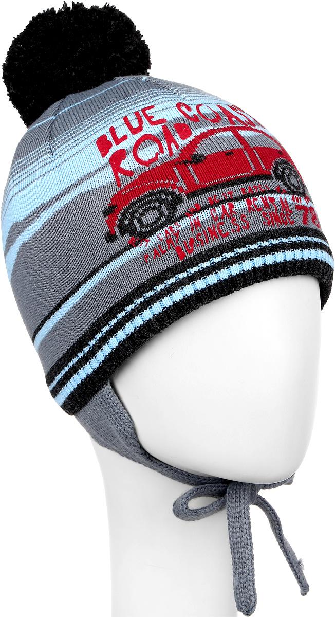 M3649-22Теплая детская шапка ПриКиндер отлично дополнит образ вашего ребенка в холодную погоду. Сочетание шерсти и акрила максимально сохраняет тепло и обеспечивает удобную посадку. Подкладка выполнена из натурального хлопка с добавлением лайкры. Шапка оформлена интересным принтом в виде машинки, дополнена удлиненным ушками с завязками-шнурочками. На макушке дополнена пушистым помпоном. Уважаемые клиенты! Размер, доступный для заказа, является обхватом головы.