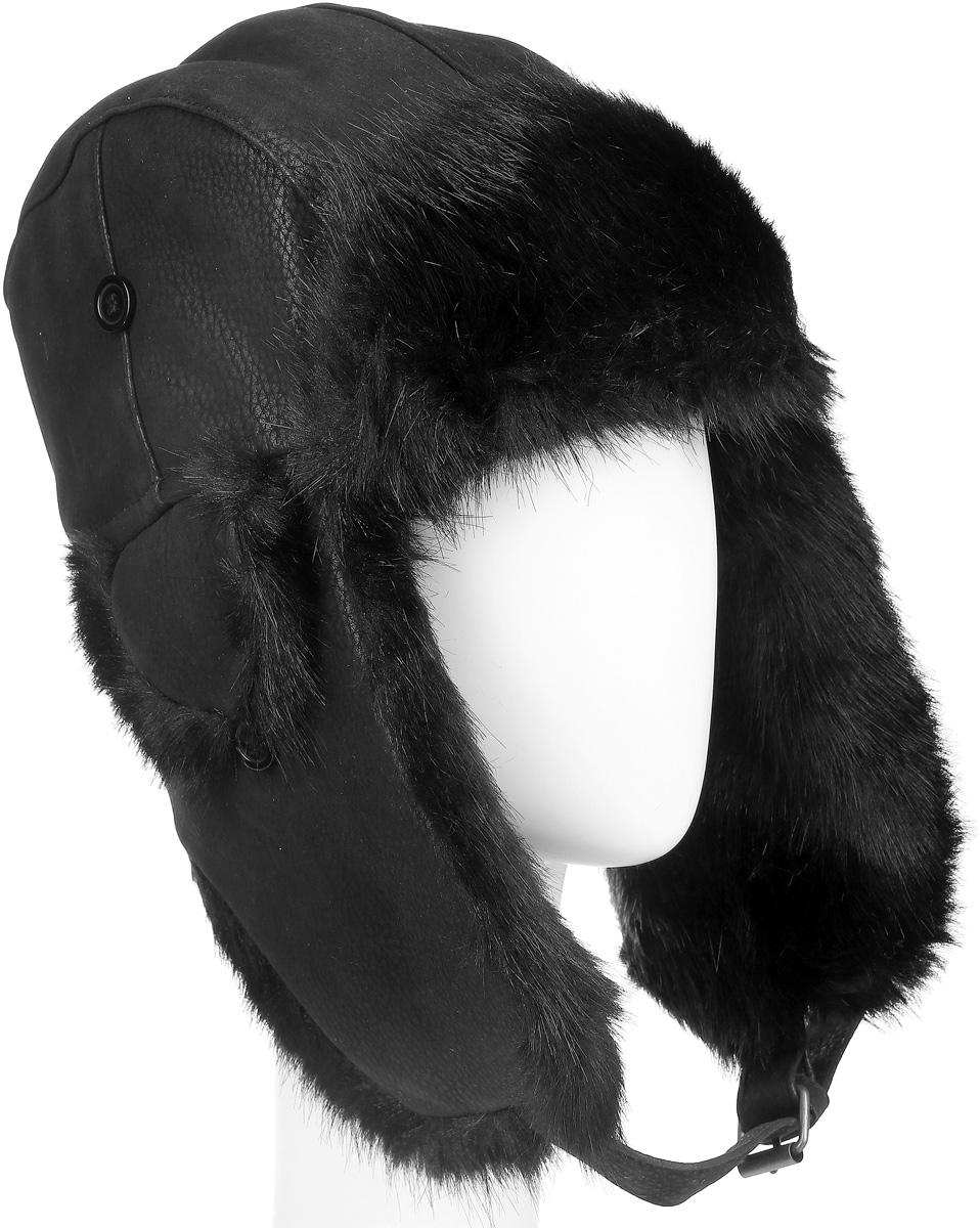 B-9068Удобная и теплая шапка-ушанка с отделкой из искусственного меха Ignite - великолепный головной убор на зиму. Такое изделие, несомненно, понравится и поможет создать всегда актуальный образ. Свойство ушанки сохранять тепло лежит в функциональной конструкции и деталях, плотно закрывающих лоб и уши. Модель оснащена застежкой-пряжкой. Уважаемые клиенты! Размер, доступный для заказа, является обхватом головы.