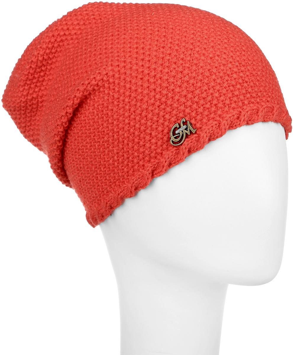 Престиж-22Стильная шапка для девочки Concept, выполненная из 50% шерсти и 50% акрила, идеально подойдет для прогулок в прохладное время года. Она бладает хорошими дышащими свойствами и удерживает тепло. Спереди удлиненная модель дополнена декоративным металлическим элементом. Уважаемые клиенты! Размер, доступный для заказа, является обхватом головы.