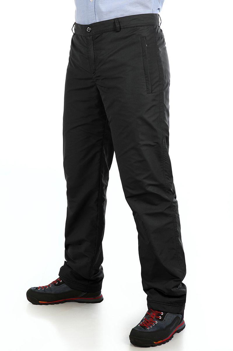 16417_BlackУтепленные мужские брюки Xaska выполнены из высококачественного полиэстера. Подкладка выполнена из теплого флиса. Модель прямого кроя и стандартной посадки застегивается в поясе на кнопку и ширинку молнию, а так же дополнена шлевками для ремня. Спереди брюки оформлены двумя втачными карманами на застежке молнии и одним карманом сзади на молнии.