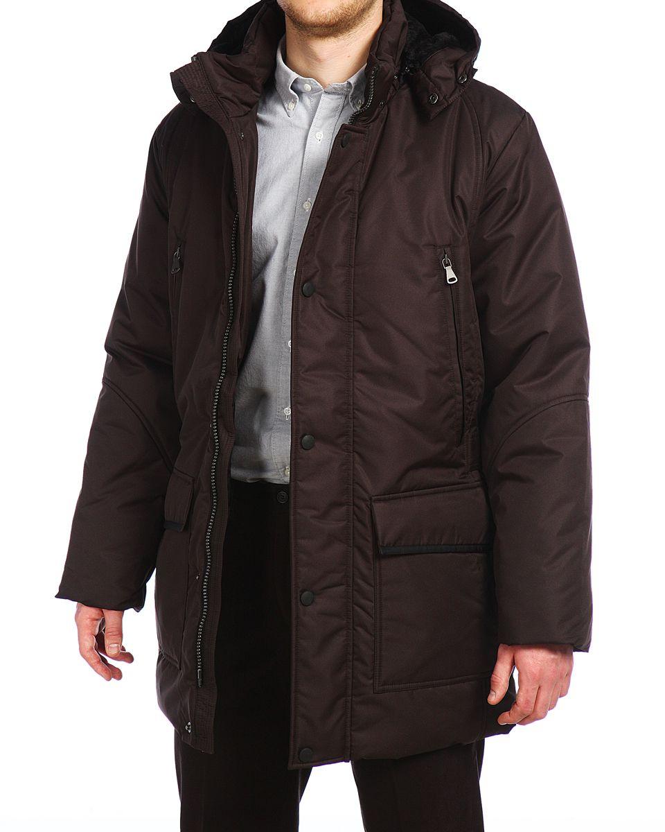 Куртка14421_BlackМужская куртка Xaska изготовлена из высококачественного полиэстера. В качестве утеплителя используется холлофайбер. Куртка с съемным капюшоном застегивается на застежку-молнию, а также дополнительно имеет ветрозащитную планку на кнопках. Капюшон оснащен текстильным шнурком со стопперами. Рукава дополнены внутренними эластичными манжетами. Спереди имеются шесть карманов на застежках-молниях и кнопках, внутри расположены два прорезных кармана на застежках-молниях. По бокам куртка регулируется при помощи хлястика с металлическими фиксаторами.
