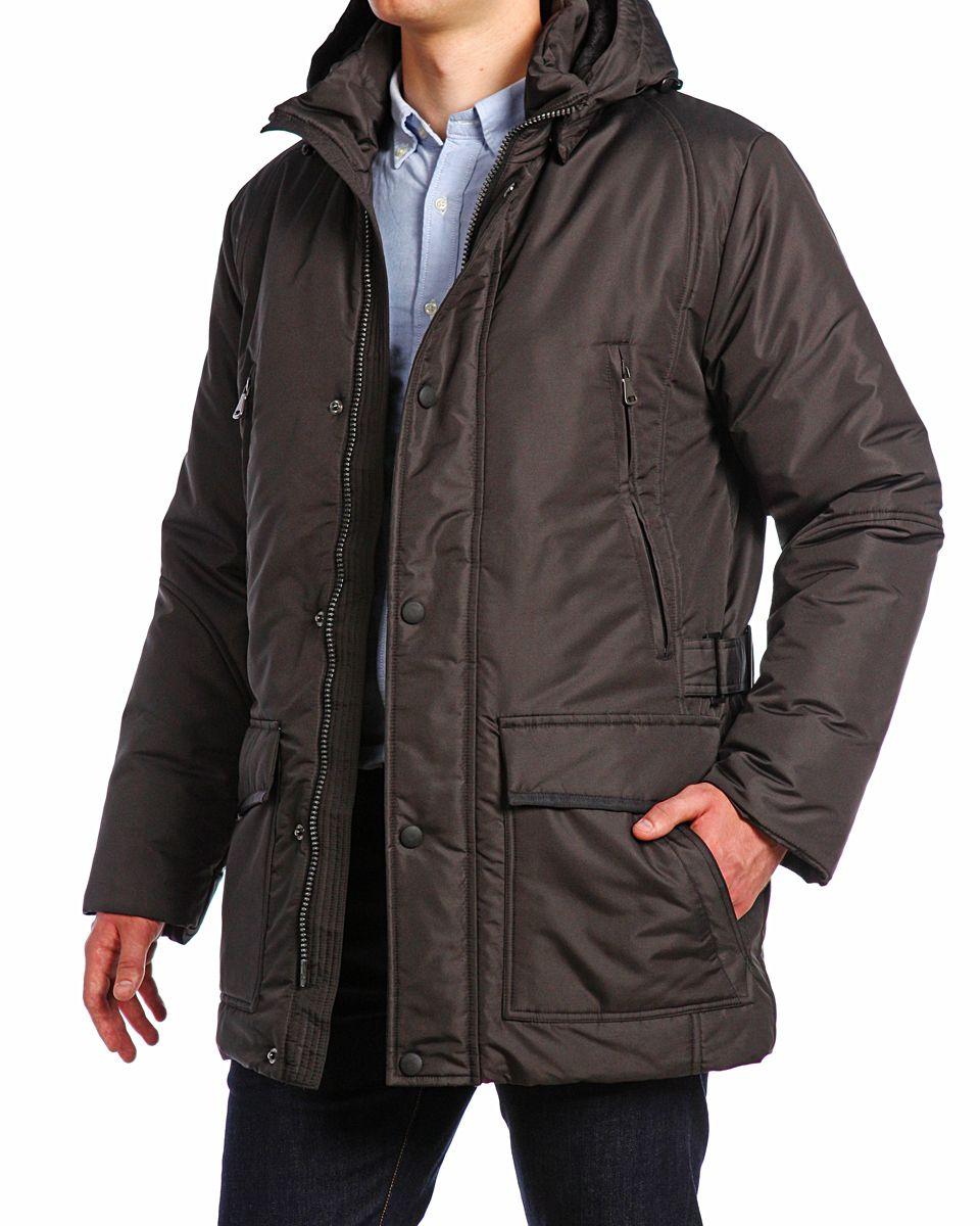 14421_BlackМужская куртка Xaska изготовлена из высококачественного полиэстера. В качестве утеплителя используется холлофайбер. Куртка с съемным капюшоном застегивается на застежку-молнию, а также дополнительно имеет ветрозащитную планку на кнопках. Капюшон оснащен текстильным шнурком со стопперами. Рукава дополнены внутренними эластичными манжетами. Спереди имеются шесть карманов на застежках-молниях и кнопках, внутри расположены два прорезных кармана на застежках-молниях. По бокам куртка регулируется при помощи хлястика с металлическими фиксаторами.