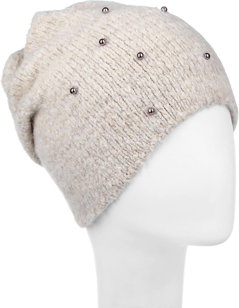 ШапкаSWH7177/2Стильная женская шапка Snezhna дополнит ваш наряд и не позволит вам замерзнуть в холодное время года. Шапка выполнена из высококачественной пряжи, что позволяет ей великолепно сохранять тепло и обеспечивает высокую эластичность и удобство посадки. Модель спереди украшена бусинами, а сзади декоративной складкой. Уважаемые клиенты! Размер, доступный для заказа, является обхватом головы.