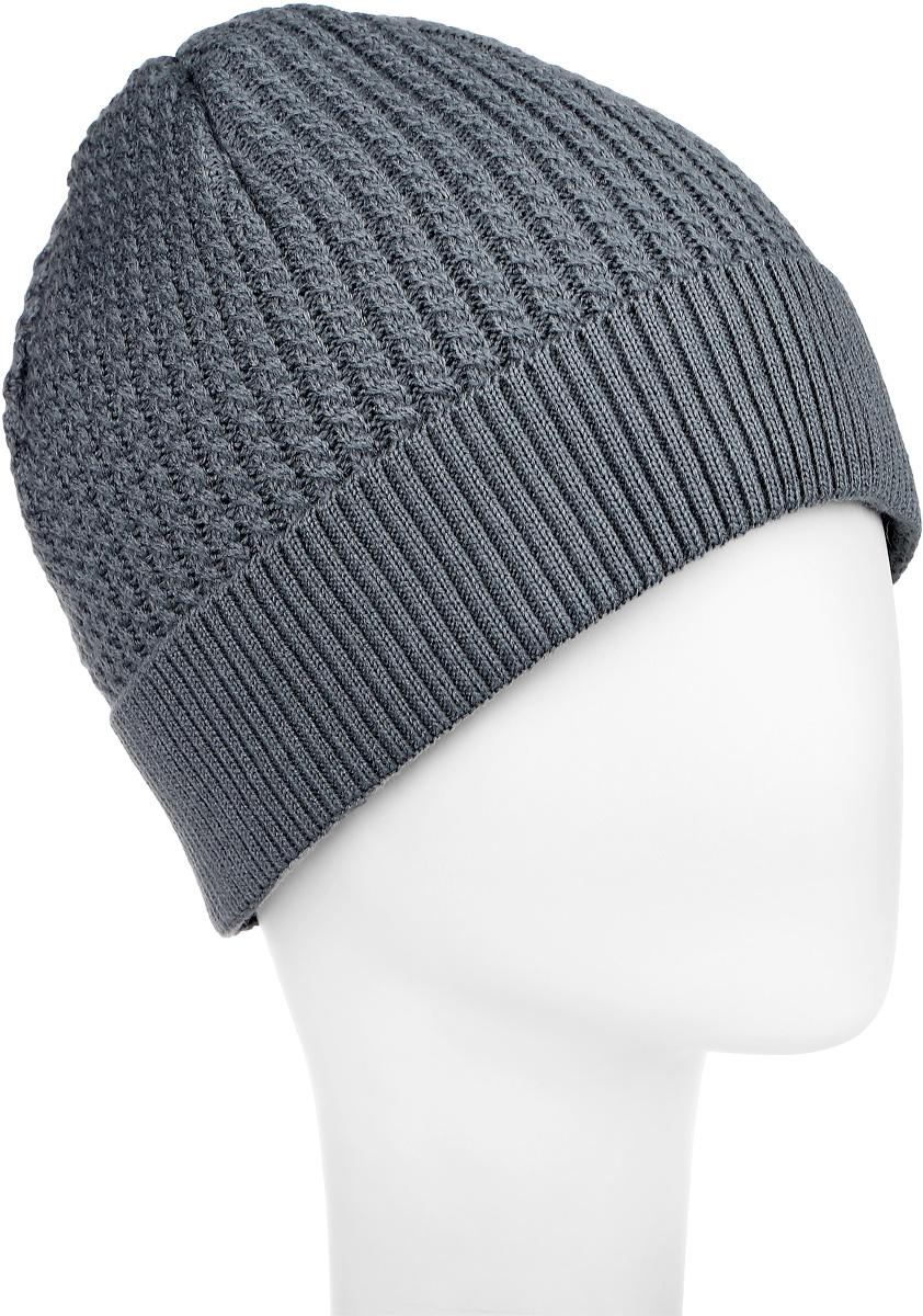 Шапка детскаяСидней-22Вязаная шапка для мальчика Concept идеально подойдет для прогулок в холодное время года. Изготовленная из 50% шерсти и 50% акрила, она обладает хорошими дышащими свойствами и хорошо удерживает тепло. Подкладка выполнена из мягкого флиса. Модель снизу дополнена небольшим отворотом и нашивкой с надписью. Такая шапка станет модным и стильным предметом детского гардероба. Она улучшит настроение даже в хмурые холодные дни! Уважаемые клиенты! Размер, доступный для заказа, является обхватом головы ребенка.