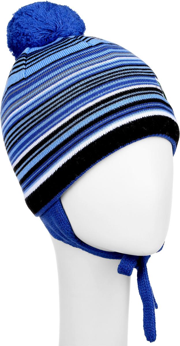 Шапка детскаяM2718-22Детская шапка ПриКиндер выполнена из шерсти и акрила, подкладка - из хлопка и лайкры. Уважаемые клиенты! Размер, доступный для заказа, является обхватом головы.