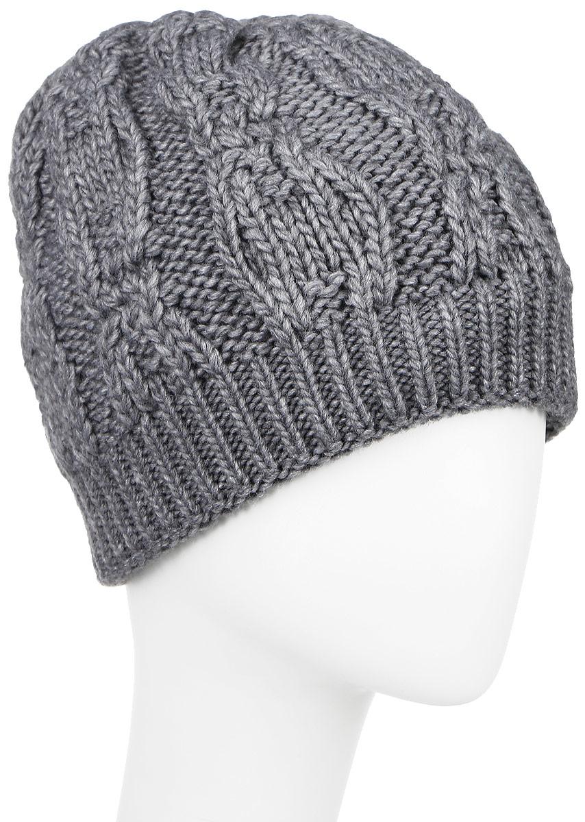 SWH5356/3-003Вязаная женская шапка Snezhna идеально подойдет для вас в холодное время года. Изготовленная из шерсти и акрила, она мягкая и приятная на ощупь, обладает хорошими дышащими свойствами и максимально удерживает тепло. Шапка двойная, плотно облегает голову, благодаря чему надежно защищает от ветра и мороза. Шапка оформлена крупным вязаным узором, а также дополнена небольшой металлической пластиной. Такой стильный и теплый аксессуар дополнит ваш образ и подчеркнет индивидуальность! Уважаемые клиенты! Размер, доступный для заказа, является обхватом головы.