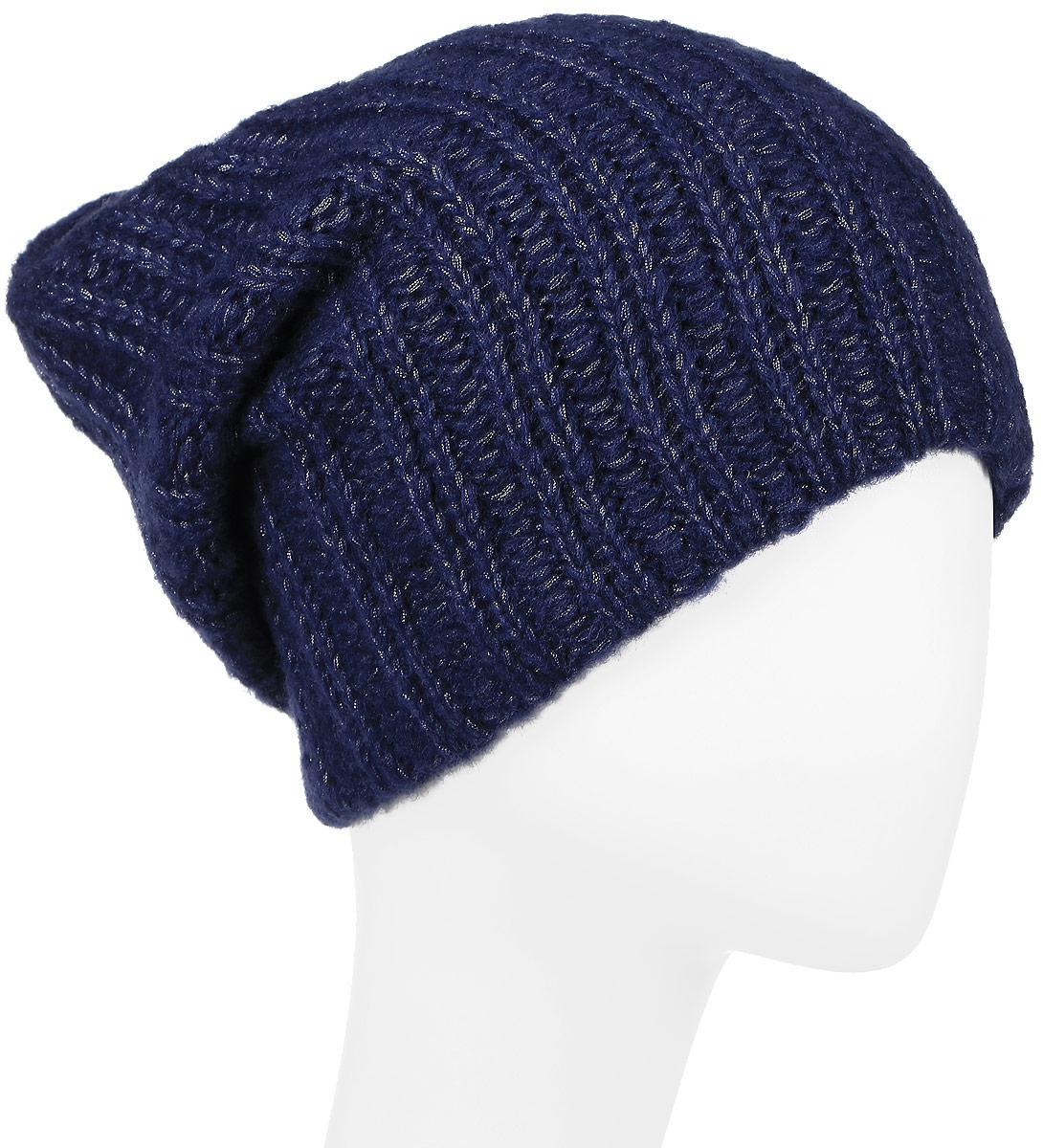 ШапкаW16-11140_211Женская шапка Finn Flare, выполненная из акрила с добавлением шерсти, отлично дополнит ваш образ в холодную погоду. Модель связана резинкой с блестящей нитью. Оформлено изделие фирменной металлической нашивкой. Шапка составит идеальный комплект с модной верхней одеждой и подарит вам уют и тепло. Уважаемые клиенты! Размер, доступный для заказа, является обхватом головы.