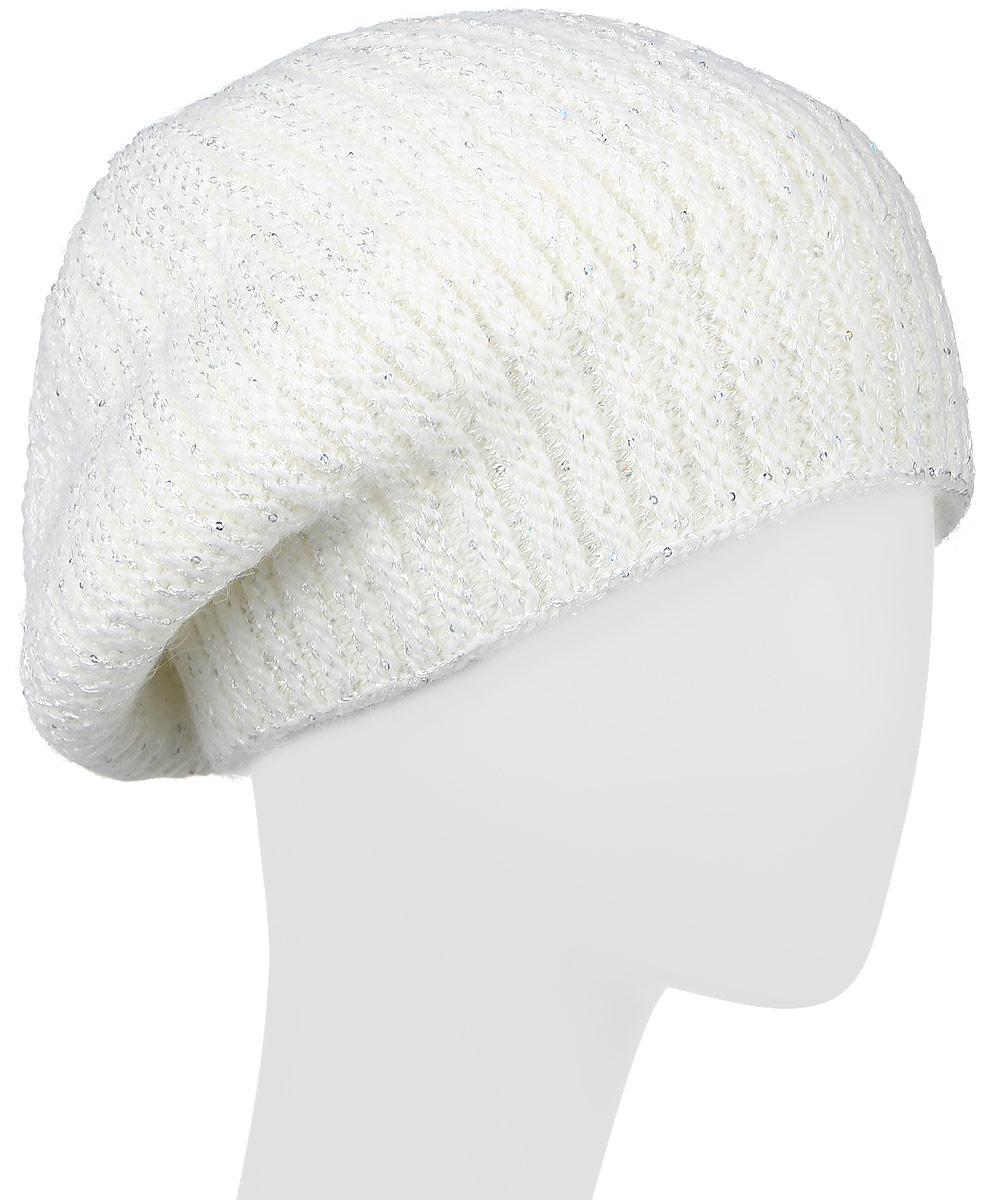 W16-11139_101Стильная женская шапка Finn Flare дополнит ваш наряд и не позволит вам замерзнуть в холодное время года. Шапка выполнена из высококачественной пряжи, что позволяет ей великолепно сохранять тепло и обеспечивает высокую эластичность и удобство посадки. Модель оформлена металлической пластиной с названием бренда и украшена пайетками. Уважаемые клиенты! Размер, доступный для заказа, является обхватом головы.