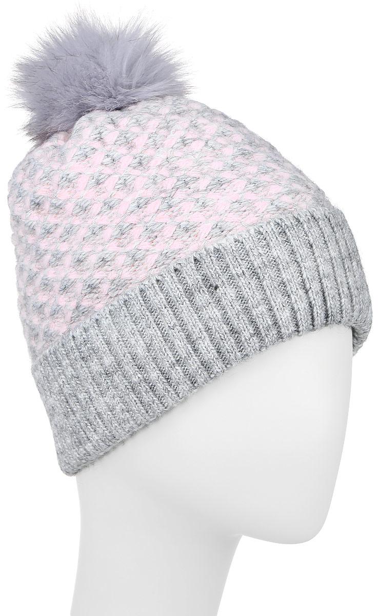 ШапкаW16-32126_201Стильная женская шапка с отворотом Finn Flare дополнит ваш наряд и не позволит вам замерзнуть в холодное время года. Шапка выполнена из высококачественной пряжи, что позволяет ей великолепно сохранять тепло и обеспечивает высокую эластичность и удобство посадки. Модель оформлена оригинальной вязкой и дополнена пушистым помпоном. Такая шапка станет модным и стильным дополнением вашего гардероба. Уважаемые клиенты! Размер, доступный для заказа, является обхватом головы.