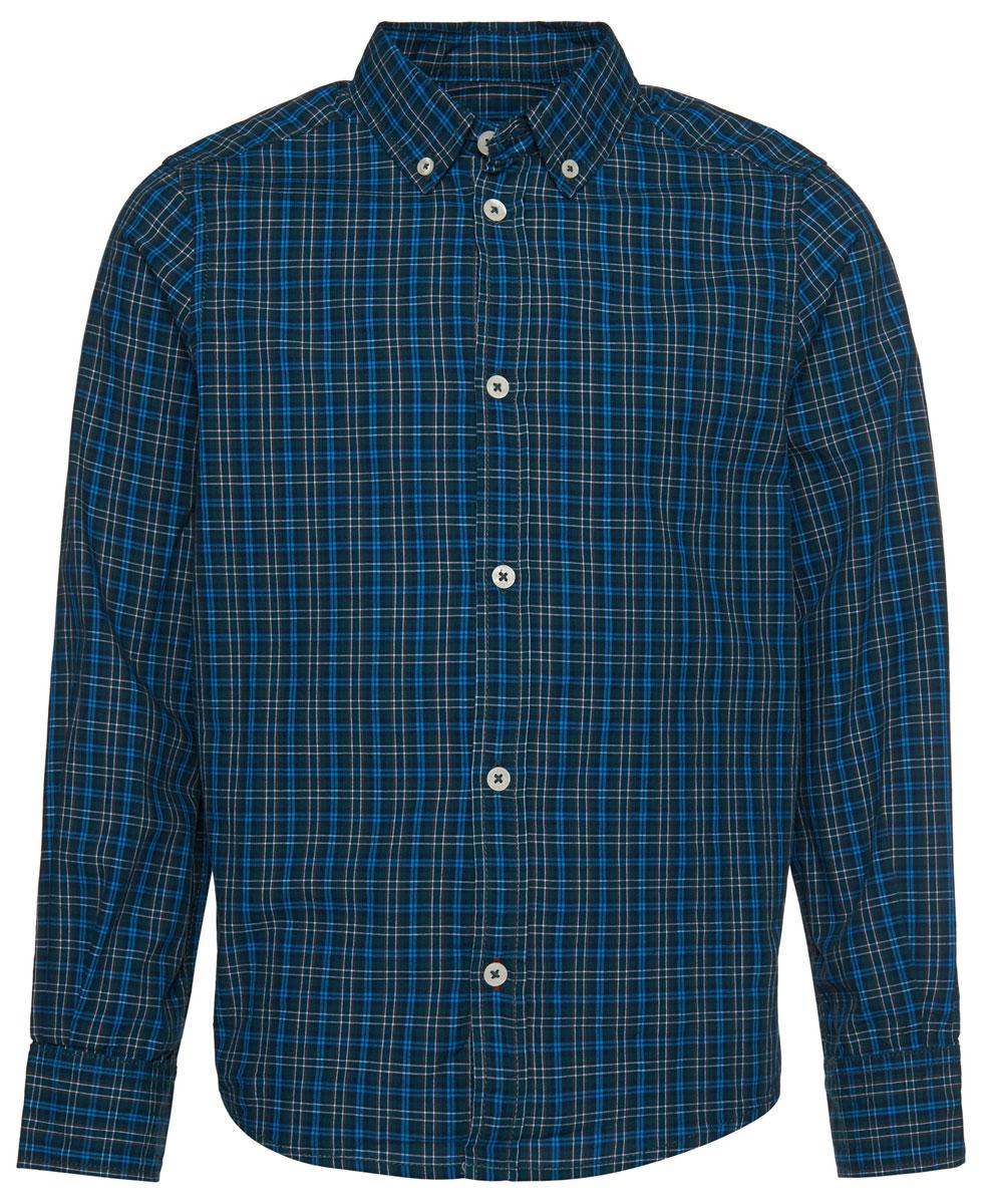 Рубашка2032532.00.30_7633Рубашка Tom Tailor для мальчика выполнена из высококачественного материала. Модель классического кроя с длинными рукавами и отложным воротником застегивается на пуговицы по всей длине. На манжетах предусмотрены застежки-пуговицы. Модель оформлена принтом в клетку.