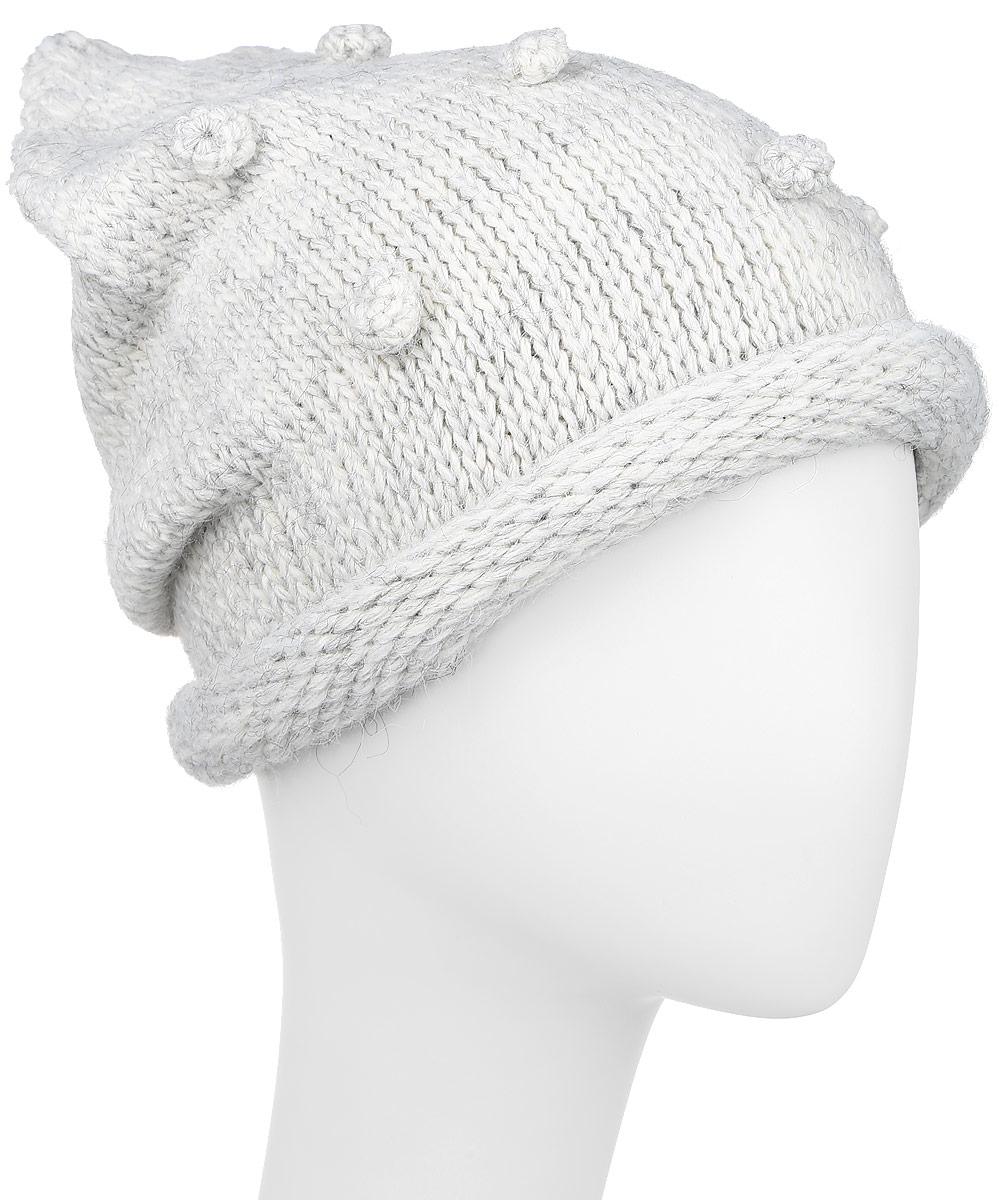 Скитлс-22Стильная вязаная шапка для девочки Concept идеально подойдет для прогулок в прохладное время года. Изготовленная из акрила с добавлением шерсти, она обладает хорошими дышащими свойствами и хорошо удерживает тепло. Шапка декорирована объемными горошинами. Уважаемые клиенты! Размер, доступный для заказа, является обхватом головы ребенка.