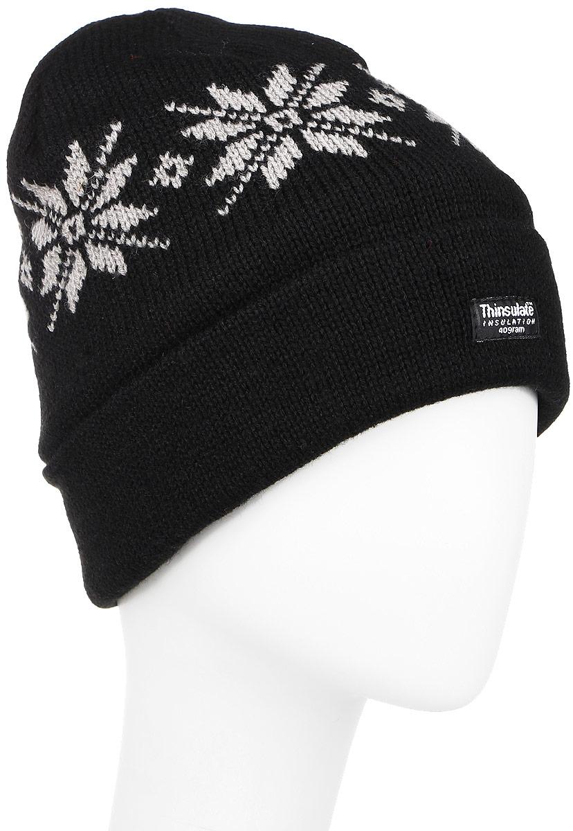 Шапка304632Вязаная шапка Ignite идеально подойдет для вас в холодное время года. Изготовленная из акрила, она мягкая и приятная на ощупь, обладает хорошими дышащими свойствами и максимально удерживает тепло. Модель плотно облегает голову, благодаря чему надежно защищает от ветра и мороза. Подкладка шапки выполнена из мягкого теплого флиса. В качестве утеплителя используется тинсулейт - материал из тонких микроволокон, легкий и в тоже время очень теплый. Он не впитывает влагу, благодаря чему изделие даже в сырую дождливую погоду будет идеально вас согревать. Шапка оформлена вязаным рисунком, а также дополнена небольшой нашивкой. Такой стильный и теплый аксессуар дополнит ваш образ и подчеркнет индивидуальность! Уважаемые клиенты! Размер, доступный для заказа, является обхватом головы.