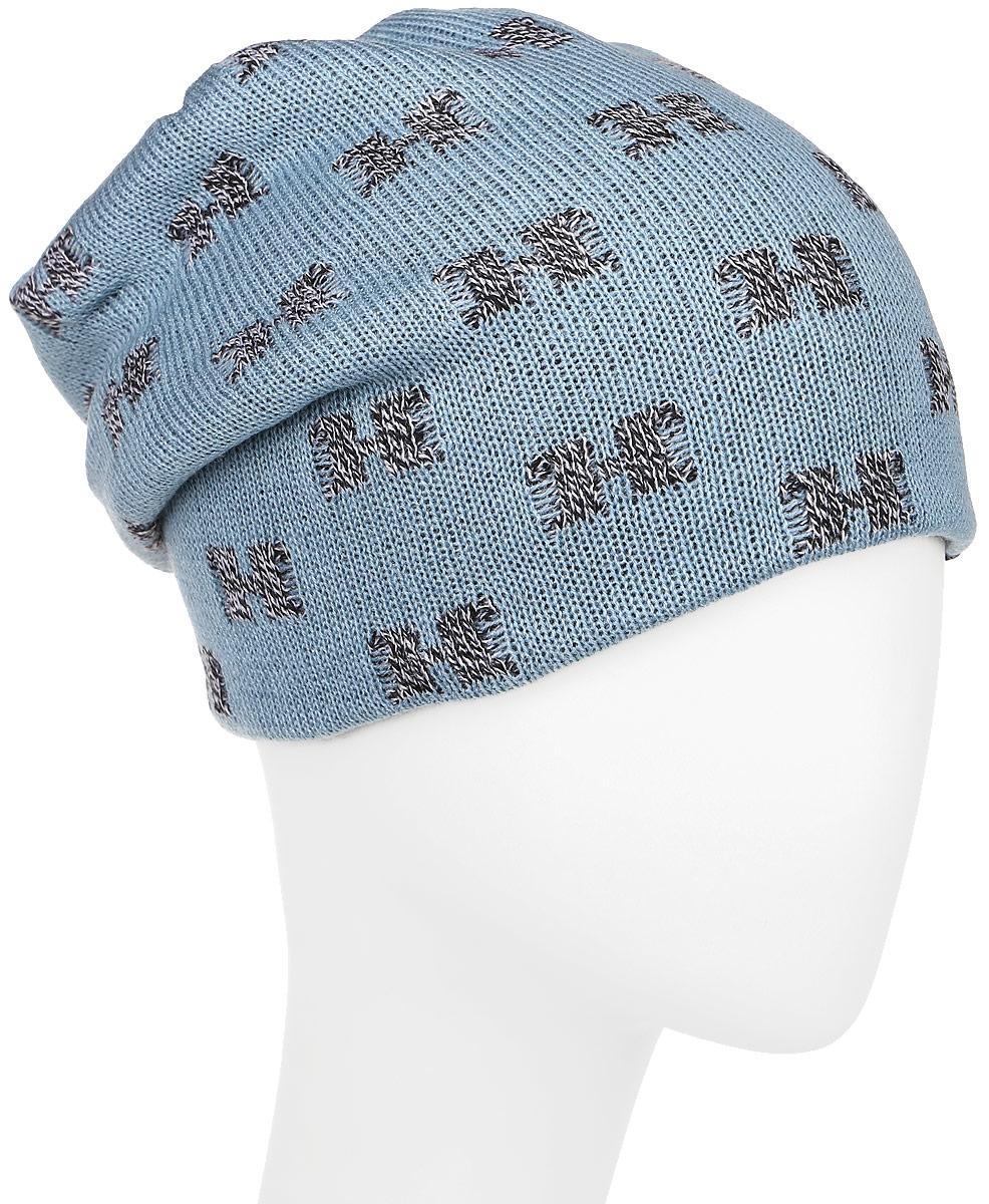 Шапка детскаяЕгерь-22Теплая шапка для мальчика Concept выполнена из сочетания высококачественного акрила и теплой шерсти. Шапка двойная оформлена контрастным принтом и дополнена нашивкой с логотипом бренда. Уважаемые клиенты! Размер, доступный для заказа, является обхватом головы.