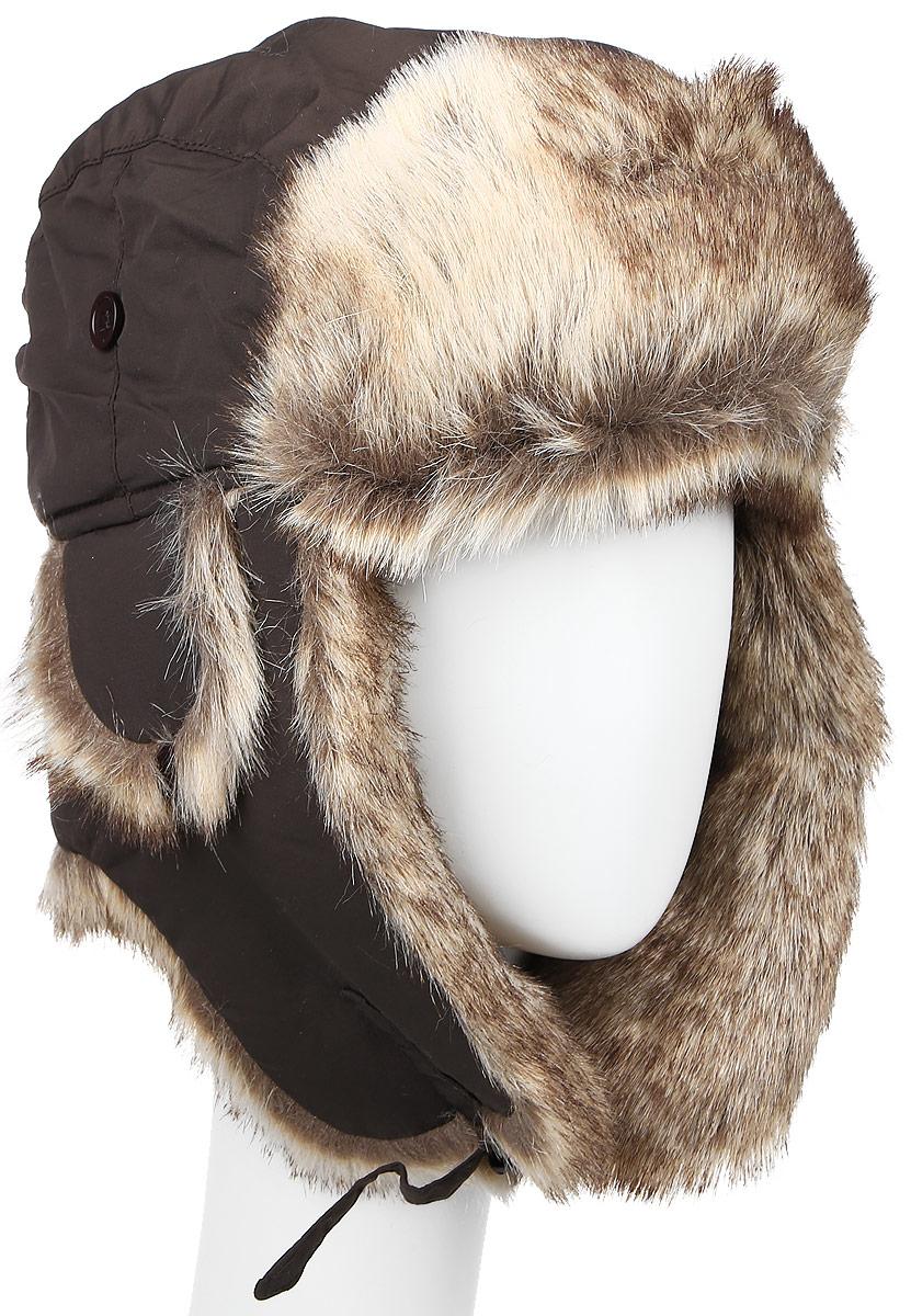 ШапкаB-9001Удобная и теплая мужская шапка-ушанка с отделкой из искусственного меха Ignite - великолепный головной убор на зиму. Такое изделие, несомненно, понравится и поможет создать всегда актуальный образ. Свойство ушанки сохранять тепло лежит в функциональной конструкции и деталях, плотно закрывающих лоб и уши. Модель застегивается с помощью хлястика с застежкой-защелкой. Уважаемые клиенты! Размер, доступный для заказа, является обхватом головы.