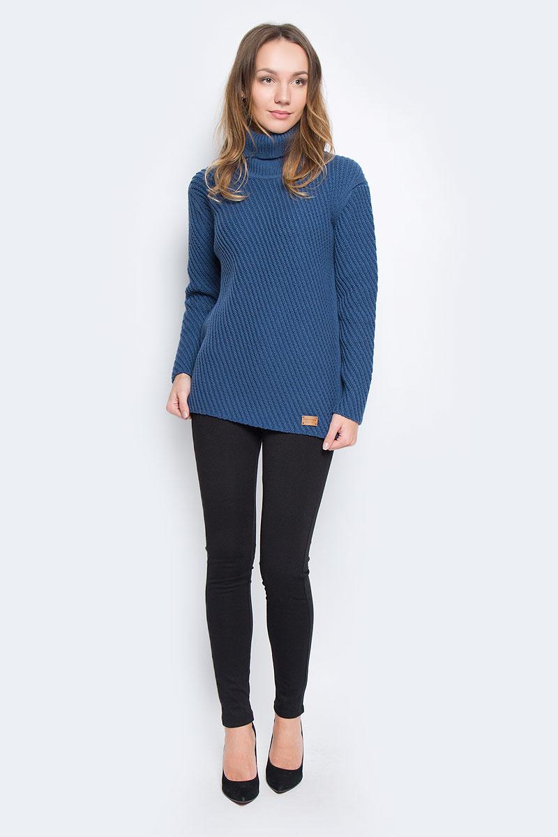 СвитерW16-171240_140Стильный женский свитер, выполненный из качественной пряжи, отлично дополнит ваш образ и согреет в холодную погоду. Модель с воротником-гольф и длинными рукавами немного удлинена.