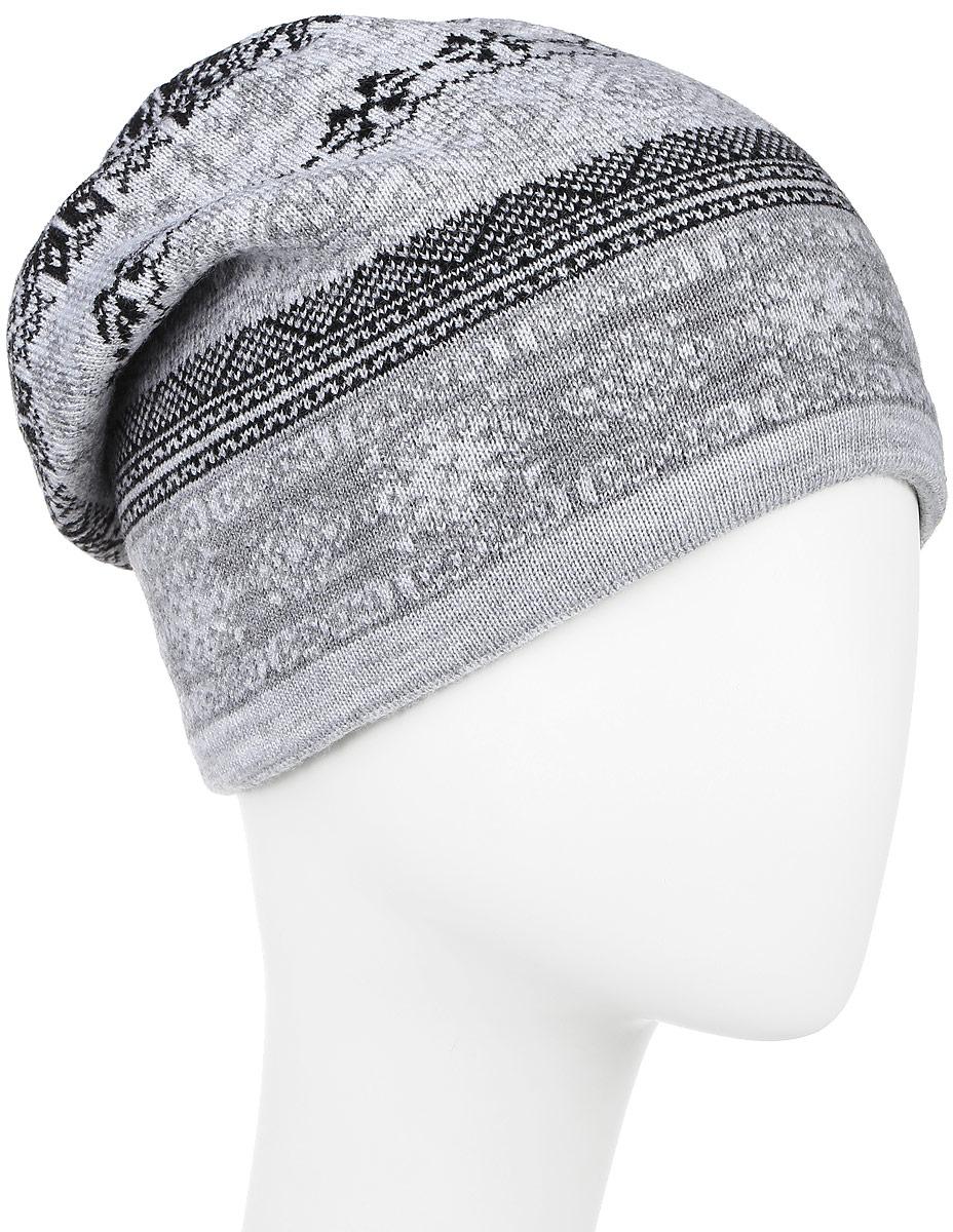 W16-22112_211Мужская шапка Finn Flare, выполненная из акрила и шерсти, отлично дополнит ваш образ в холодную погоду. Мягкая подкладка изготовлена из 100% полиэстера. Модель оформлена стильным вязаным узором и декорирована фирменной металлической нашивкой. Шапка составит идеальный комплект с модной верхней одеждой и подарит вам уют и тепло. Уважаемые клиенты! Размер, доступный для заказа, является обхватом головы.