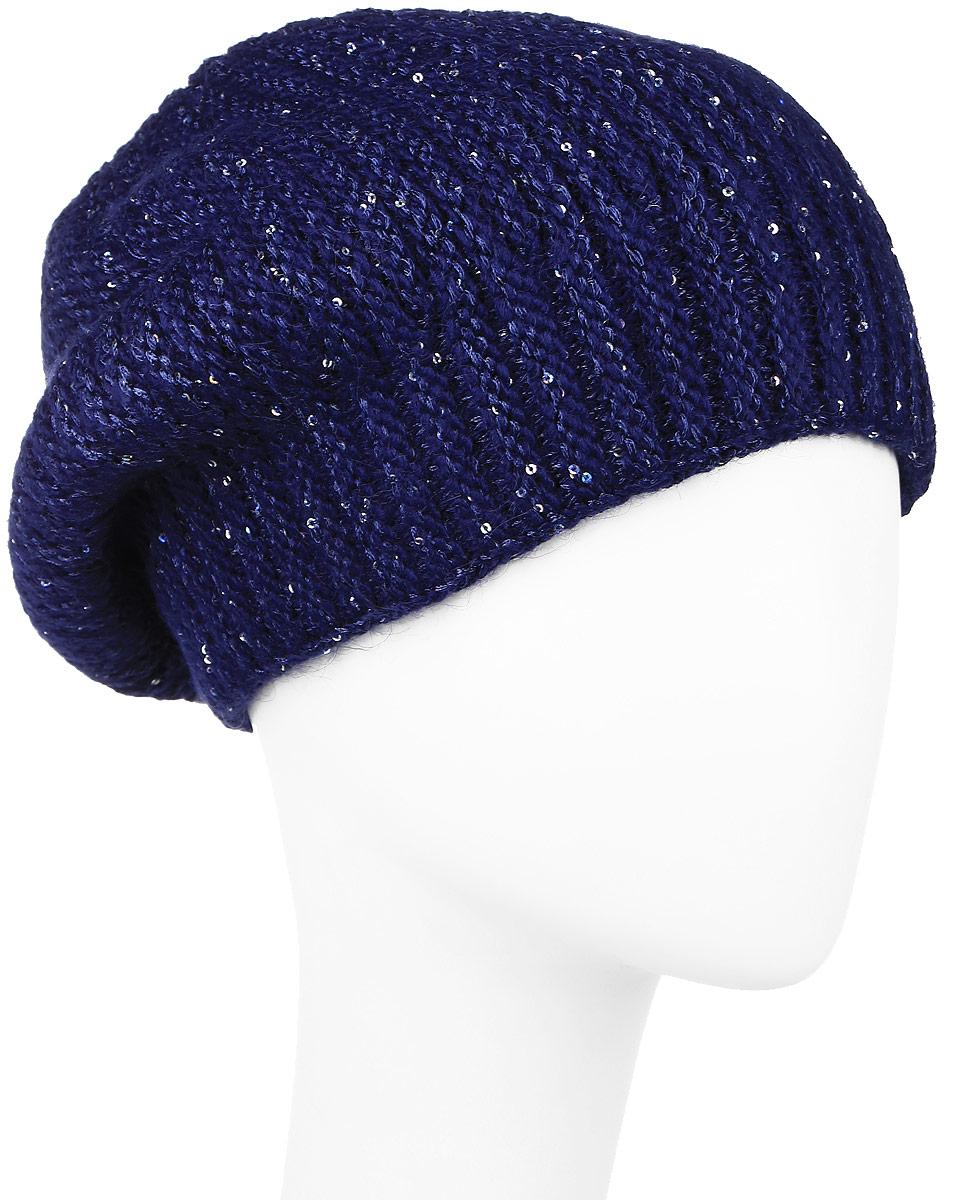 ШапкаW16-11139_101Стильная женская шапка Finn Flare дополнит ваш наряд и не позволит вам замерзнуть в холодное время года. Шапка выполнена из высококачественной пряжи, что позволяет ей великолепно сохранять тепло и обеспечивает высокую эластичность и удобство посадки. Модель оформлена металлической пластиной с названием бренда и украшена пайетками. Уважаемые клиенты! Размер, доступный для заказа, является обхватом головы.