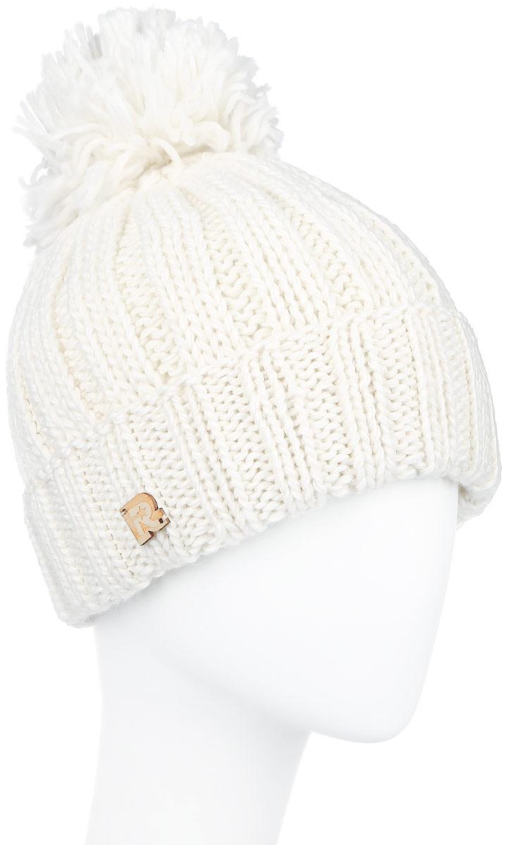 ICE 8186Теплая шапка R.Mountain выполнена из сочетания высококачественного акрила и теплой шерсти. Шапка с толстым вязанным отворотом на макушке дополнена пушистым помпоном. На отвороте модель оформлена деревянной нашивкой с логотипом бренда. Уважаемые клиенты! Размер, доступный для заказа, является обхватом головы.