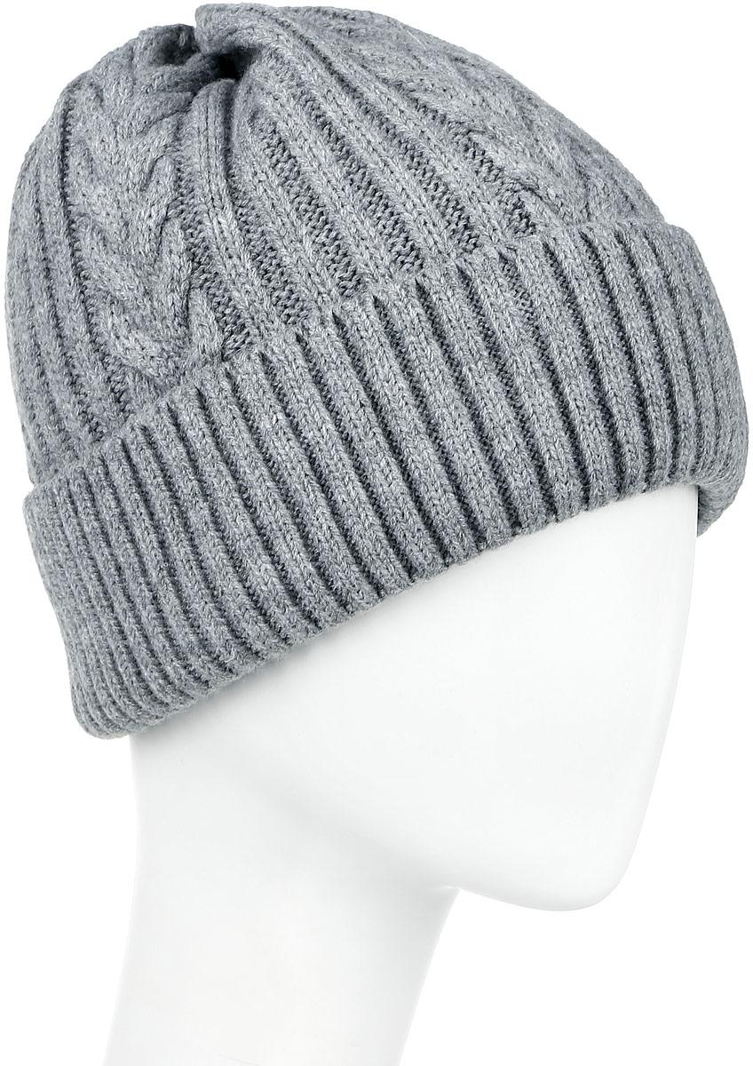 W16-22114_101Мужская шапка Finn Flare, изготовленная из шерсти и акрила, отлично подойдет для холодной погоды. Изделие дополнено теплой флисовой подкладкой. Она превосходно сохраняет тепло, мягкая и идеально прилегает к голове. Модель оформлена небольшой металлической пластиной с фирменным логотипом. Уважаемые клиенты! Размер, доступный для заказа, является обхватом головы.