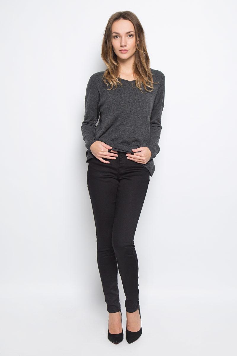 Брюки10156835_351Женские брюки Broadway Jane выполнены из высококачественного комбинированного материала. Брюки-скинни застегиваются по поясу на металлическую пуговицу и имеют ширинку на застежке-молнии. Пояс дополнен шлевками для ремня. Спереди расположено два втачных кармана и один маленький накладной, сзади - два накладных кармана.