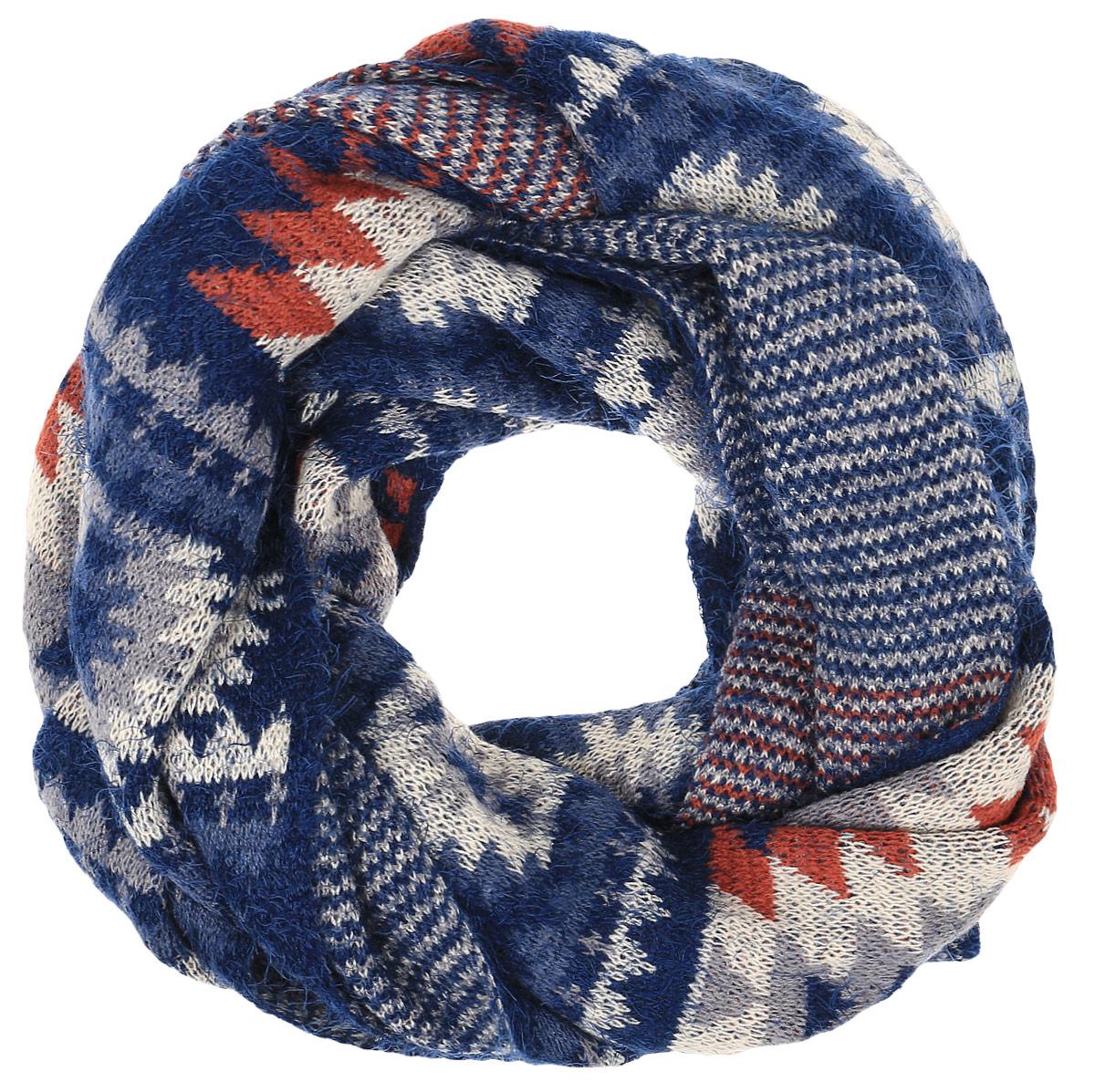 ШарфW16-11418_101Теплый мужской шарф Finn Flare станет достойным завершением вашего образа. Шарф изготовлен из сочетания высококачественного акрила и теплой шерсти. Модель оформлена контрастным принтом.