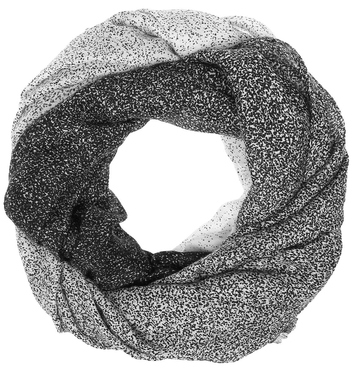 ПалантинYY-21629-14Теплый женский палантин Sophie Ramage станет достойным завершением вашего образа. Палантин изготовлен из сочетания высококачественных материалов модала и шерсти. Модель оформлена контрастным принтом.