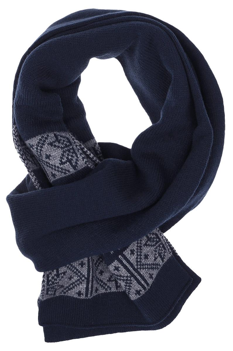 W16-22117_205Теплый мужской шарф Finn Flare станет достойным завершением вашего образа. Шарф изготовлен из высококачественного акрила с добавлением теплой шерсти. Модель оформлена оригинальным принтом с изображением снежинок.