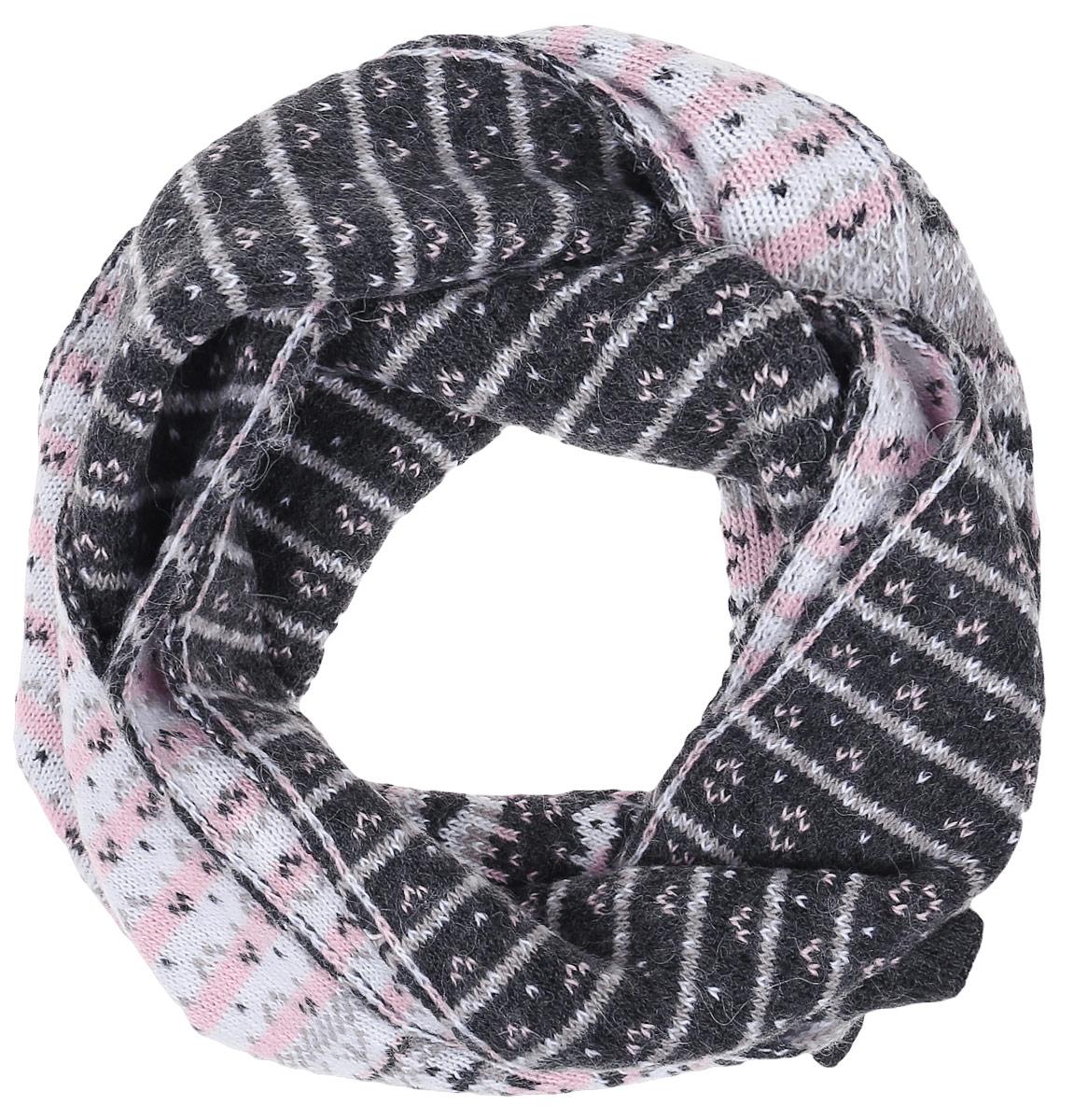 ШарфW16-12128_202Теплый женский шарф Finn Flare станет достойным завершением вашего образа. Шарф изготовлен из сочетания высококачественных материалов. Модель оформлена контрастным принтом.