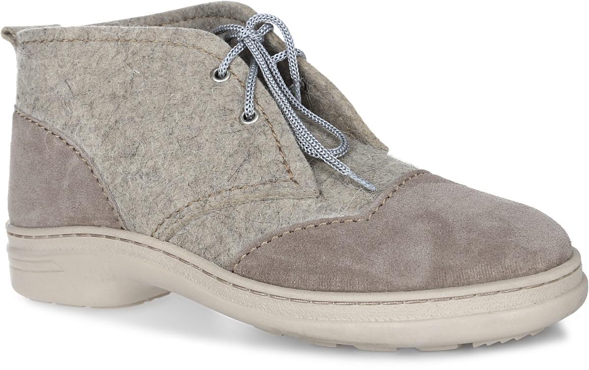 Б-11Модные мужские ботинки Кукморские валенки Стиляги выполнены из войлока - 100% овечьей шерсти и дополнены вставками из натуральной замши. Стелька из войлока не даст вашим ногам замерзнуть. Шнуровка надежно зафиксирует модель на ноге. Рифление на подошве обеспечивает отличное сцепление с любой поверхностью.