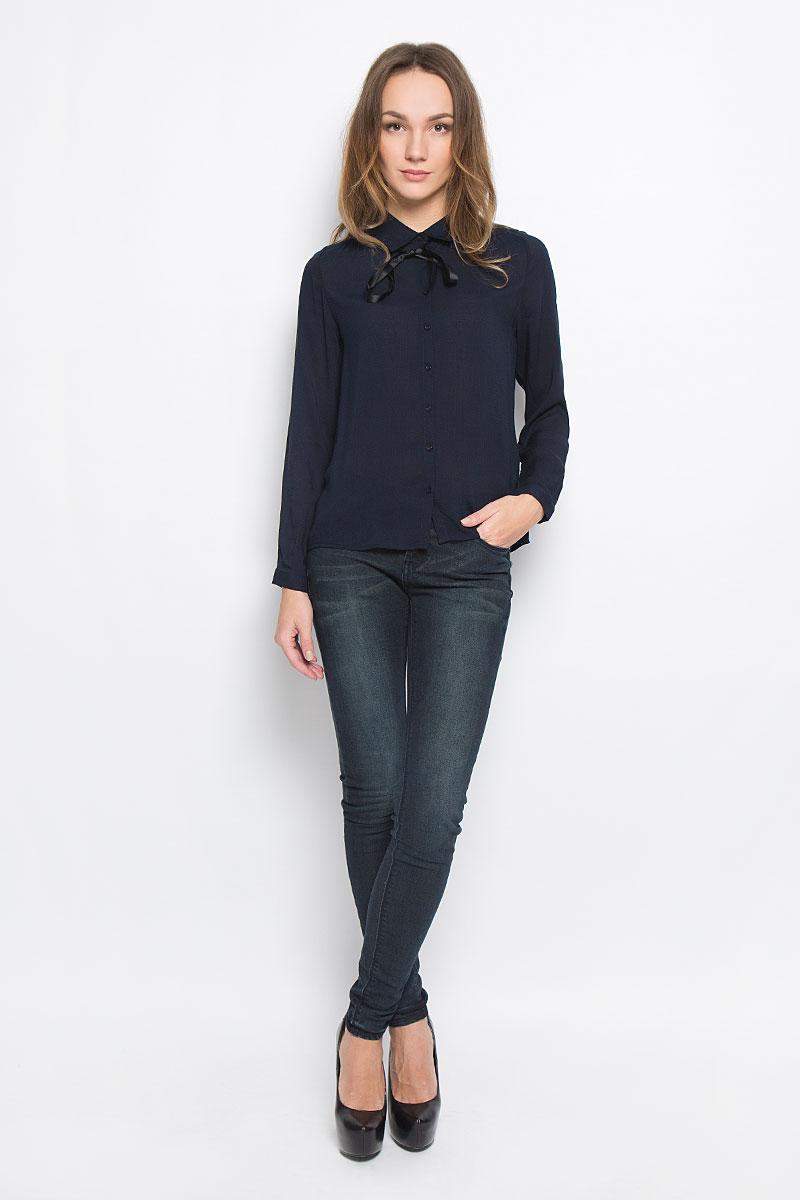 Блузка10156643_001Стильная женская блузка Broadway Reyleigh выполнена из 100% вискозы. Модель с отложным воротником и длинными рукавами по всей длине застегивается на пластиковые пуговицы. Рукава дополнены манжетами с пуговицами.