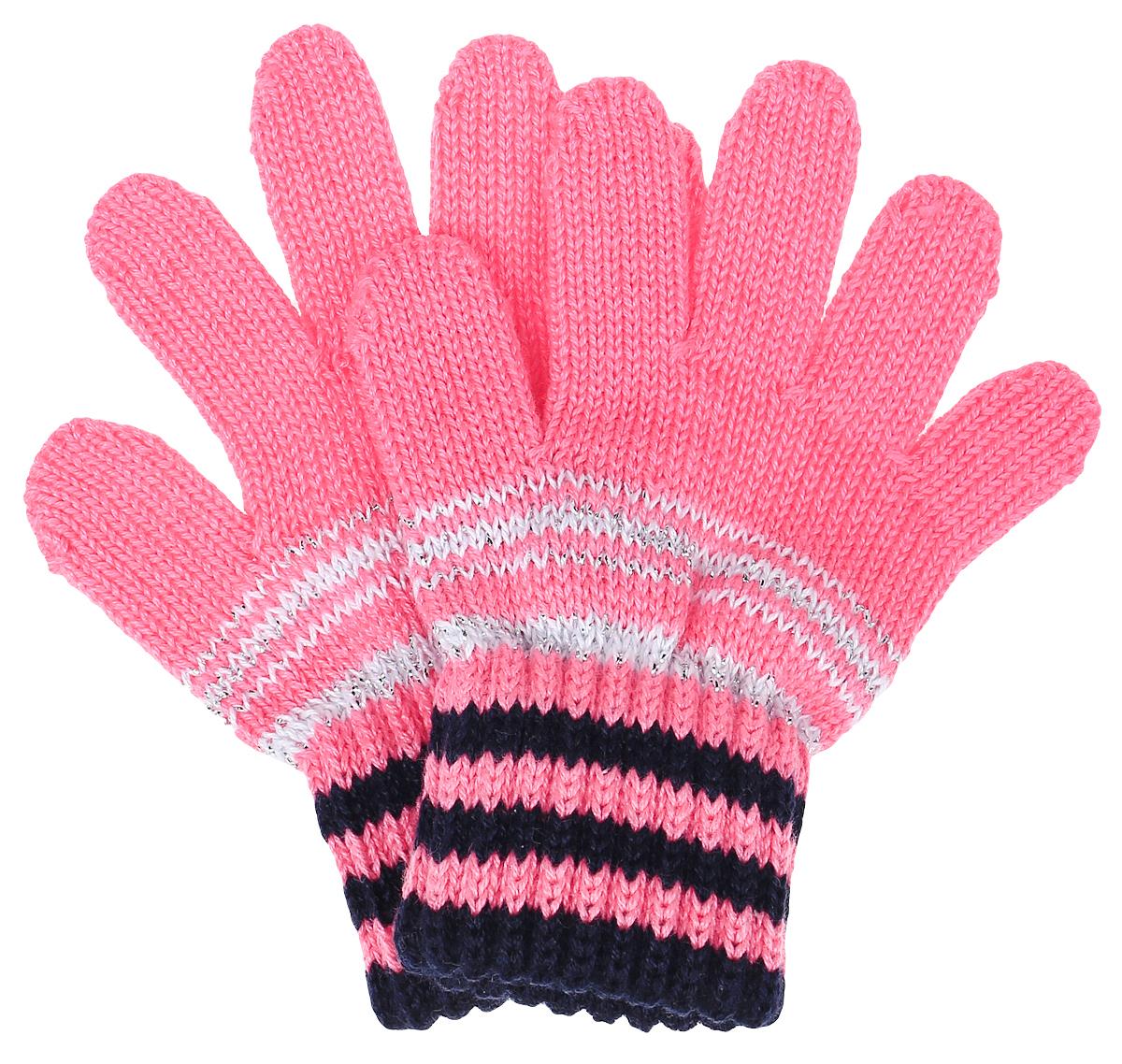 Перчатки детскиеTOLA-22Перчатки для девочки Margot Bis выполнены из акрила и хлопка. Изделие оформлено ярким вязаным рисунком с люрексом. Перчатки очень мягкие и приятные на ощупь, не раздражают кожу и хорошо сохраняют тепло. Верх модели на мягкой резинке, которая не стягивает запястья и надежно фиксирует перчатки на руках.
