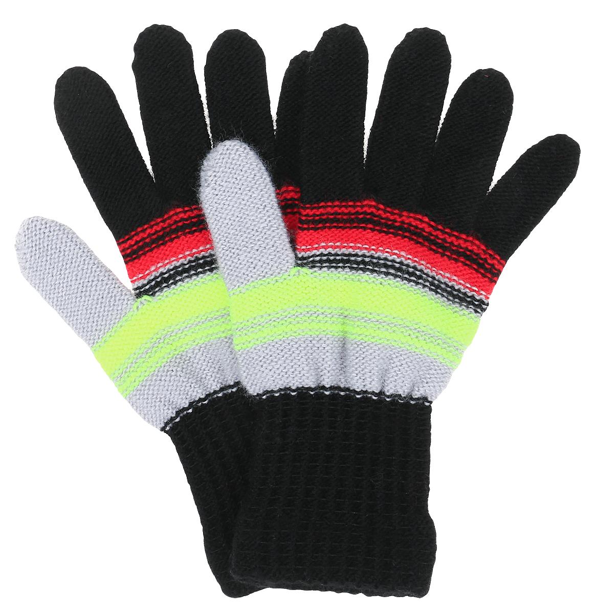 Перчатки детскиеRATATUI-22Уютные перчатки для девочки Margot Bis Ratatui изготовлены из высококачественного акрила, очень мягкие и хорошо сохраняют тепло. Перчатки оформлены стильным принтом в полоску. Верх модели на мягкой резинке, которая не стягивает запястья и надежно фиксирует перчатки на ручках ребенка.