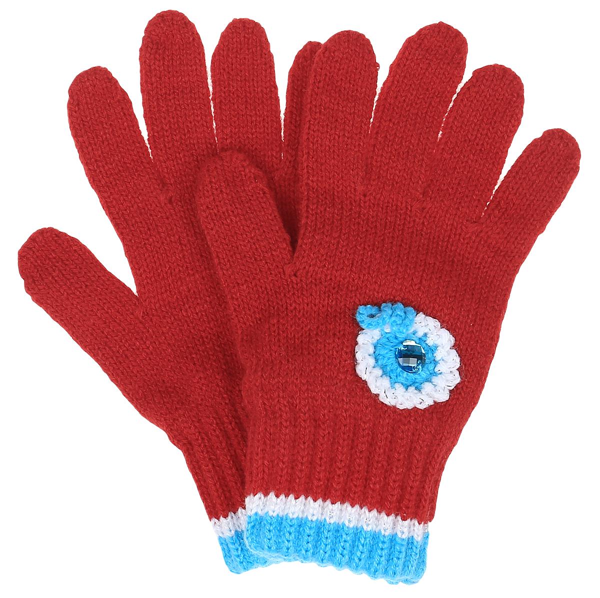 FLOWER-22Уютные перчатки для девочки Margot Bis Flover идеально подойдут для прогулок в прохладное время года. Изготовленные из высококачественного акрила, очень мягкие и приятные на ощупь и хорошо сохраняют тепло. Стильные перчатки оформлены аппликацией в виде вязанного цветка, который дополнен блестящей стразой. Верх модели на мягкой резинке, которая не стягивает запястья и надежно фиксирует перчатки на ручках ребенка.