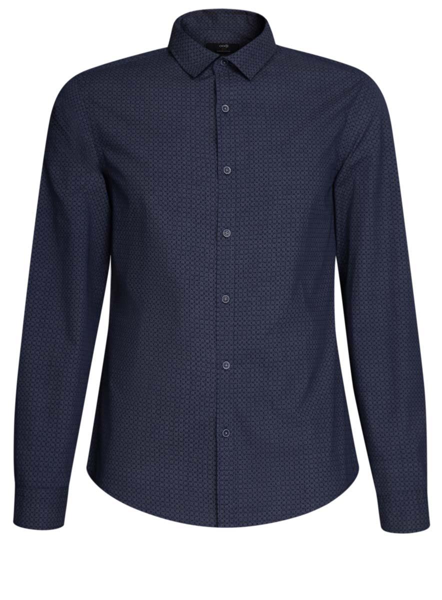 3L310136M/39749N/7923GСтильная мужская рубашка oodji выполнена из натурального хлопка. Модель с отложным воротником и длинными рукавами застегивается на пуговицы спереди. Манжеты рукавов дополнены застежками-пуговицами. Оформлена рубашка мелким узором и на локтях дополнена декоративными заплатками.