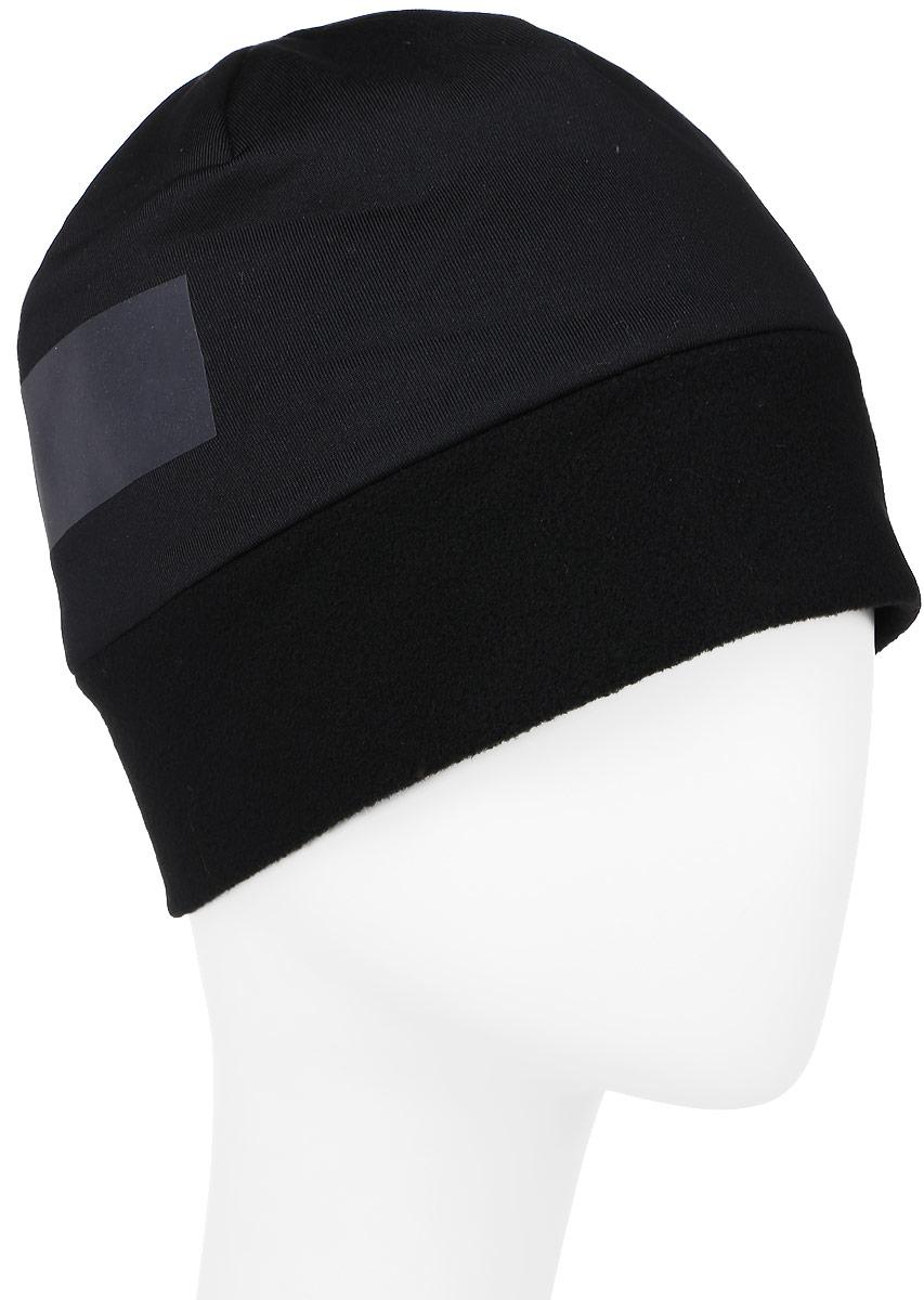 ШапкаAY0601Двусторонняя шапка Reebok Unisex Reversible идеальный вариант для тренировок на свежем воздухе в холодную погоду. Модель выполнена из полиэстера с добавлением эластана. Светоотражающий принт гарантирует видимость в условиях плохого освещения. Модель дополнена флисовой вставкой для тепла без утяжеления. Изделие оформлено интересным камуфляжным принтом. Уважаемые клиенты! Размер, доступный для заказа, является обхватом головы.